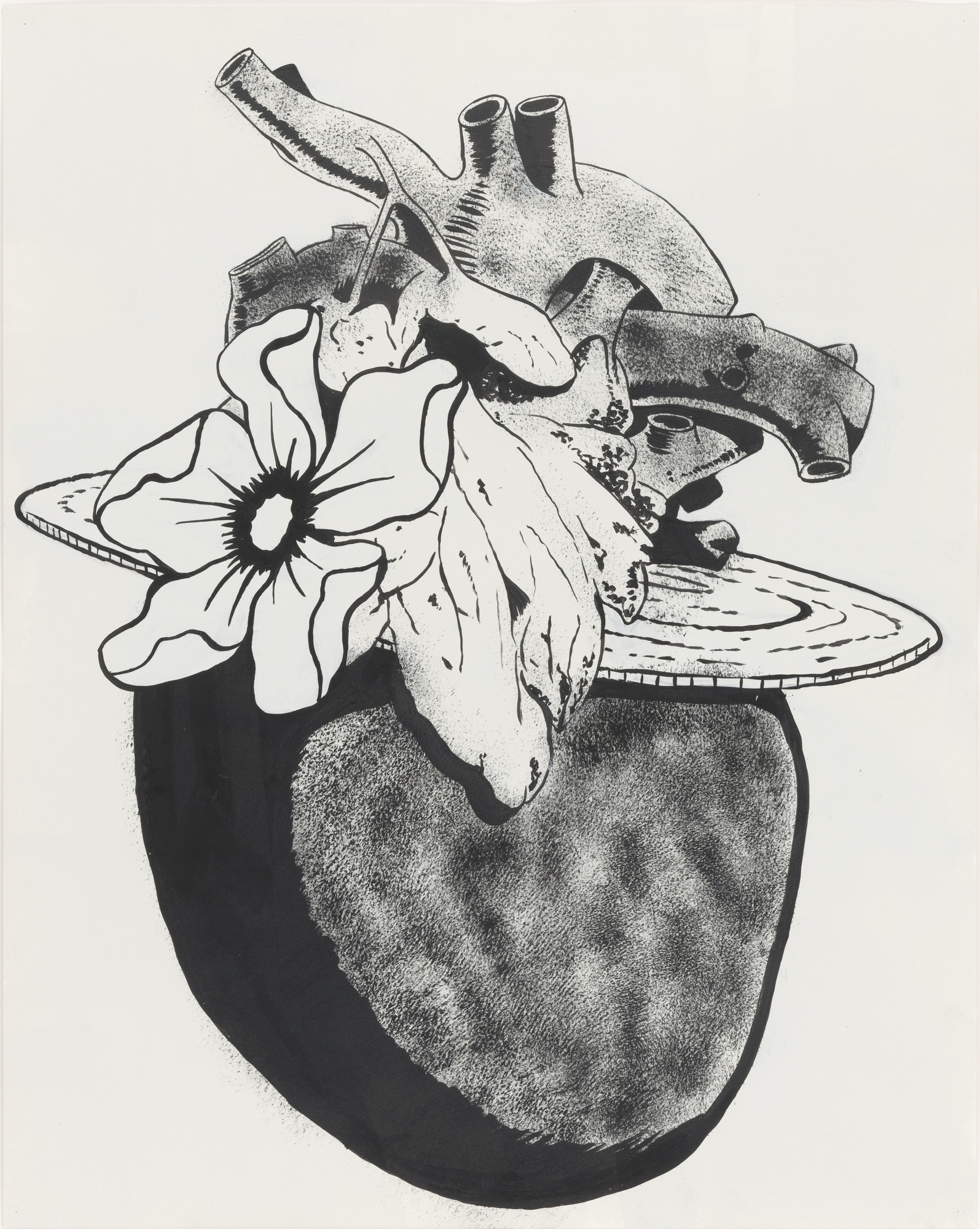Mike Kelley. Heart with Fancy Hat. 1989