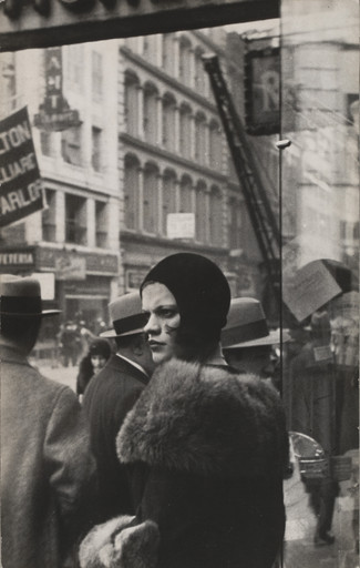 Walker Evans. Girl in Fulton Street, New York. 1929