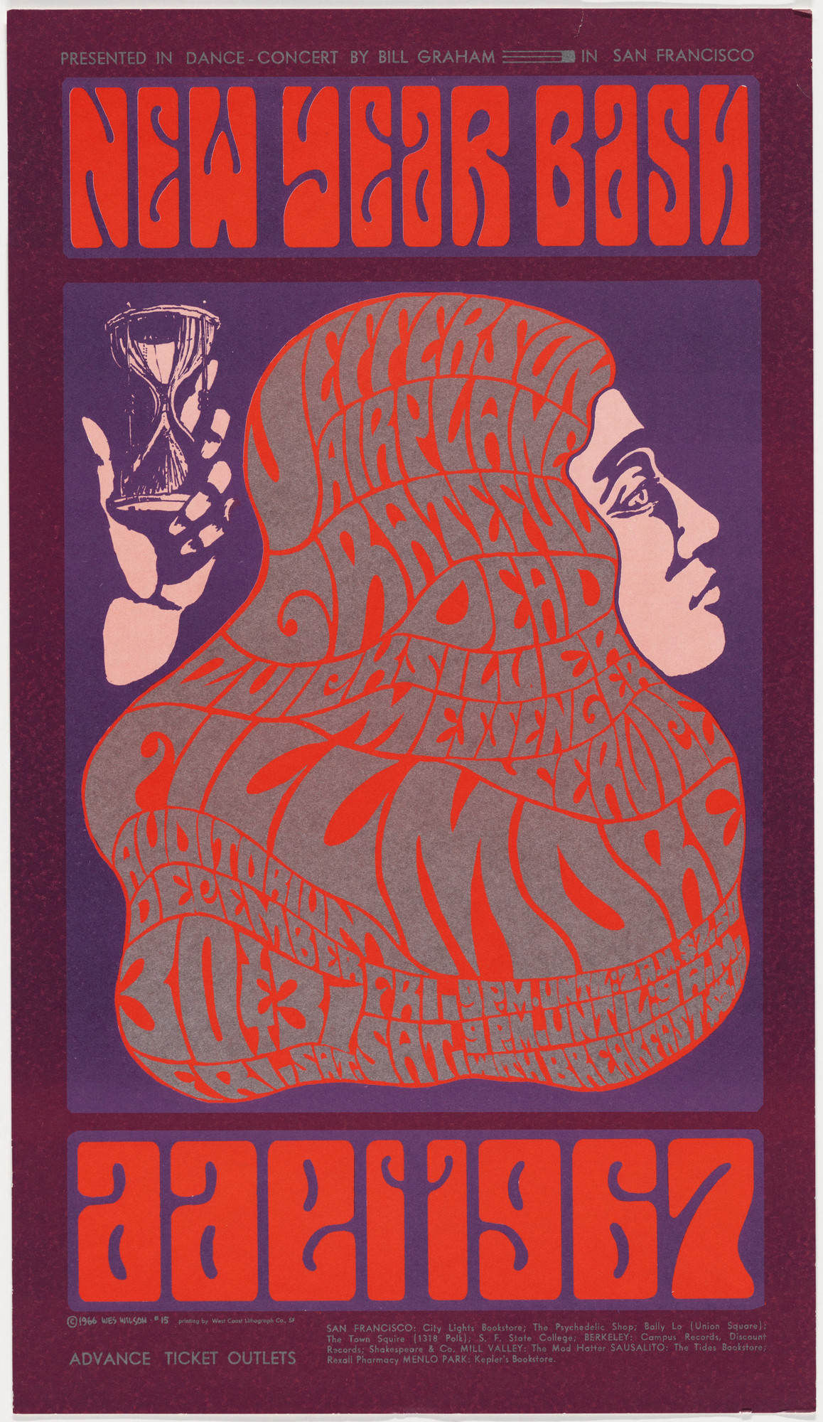 Wes Wilson. New Year Bash, 1966-67. 1966