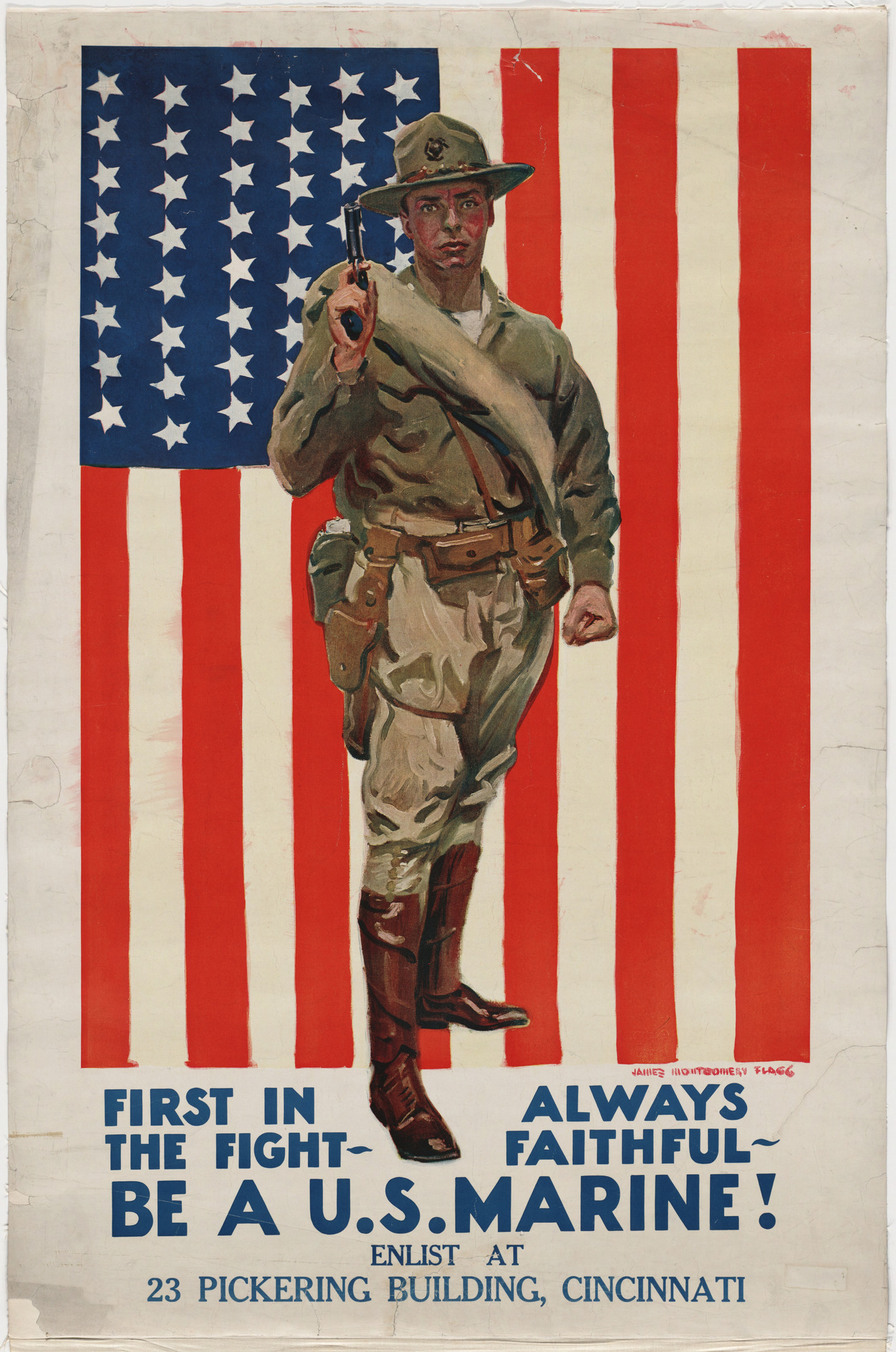 James Montgomery Flagg. First in the Fight. 1914-1918