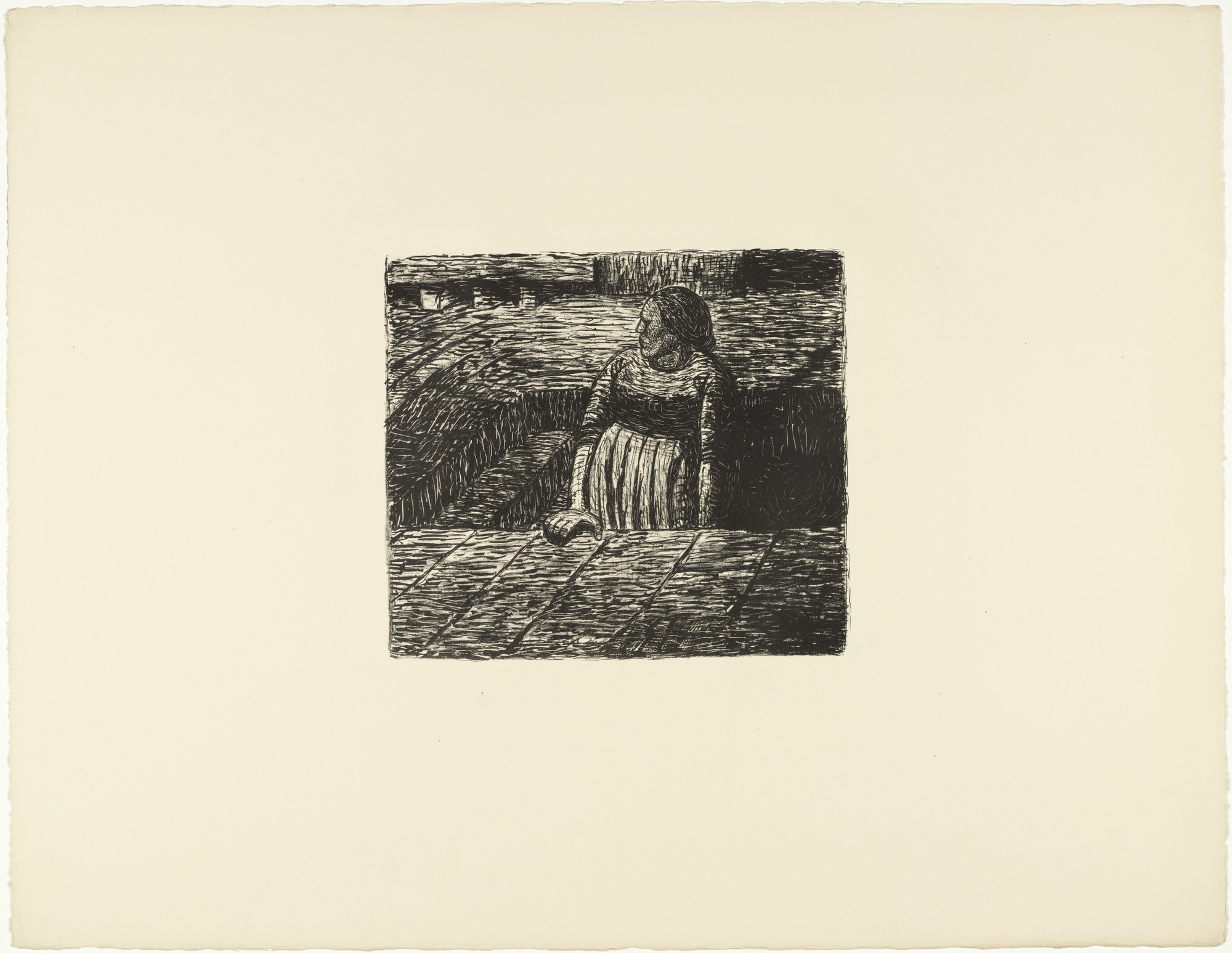 Ernst Barlach. The Dead Day (Der tote Tag). 1912 (prints executed 1910-11)
