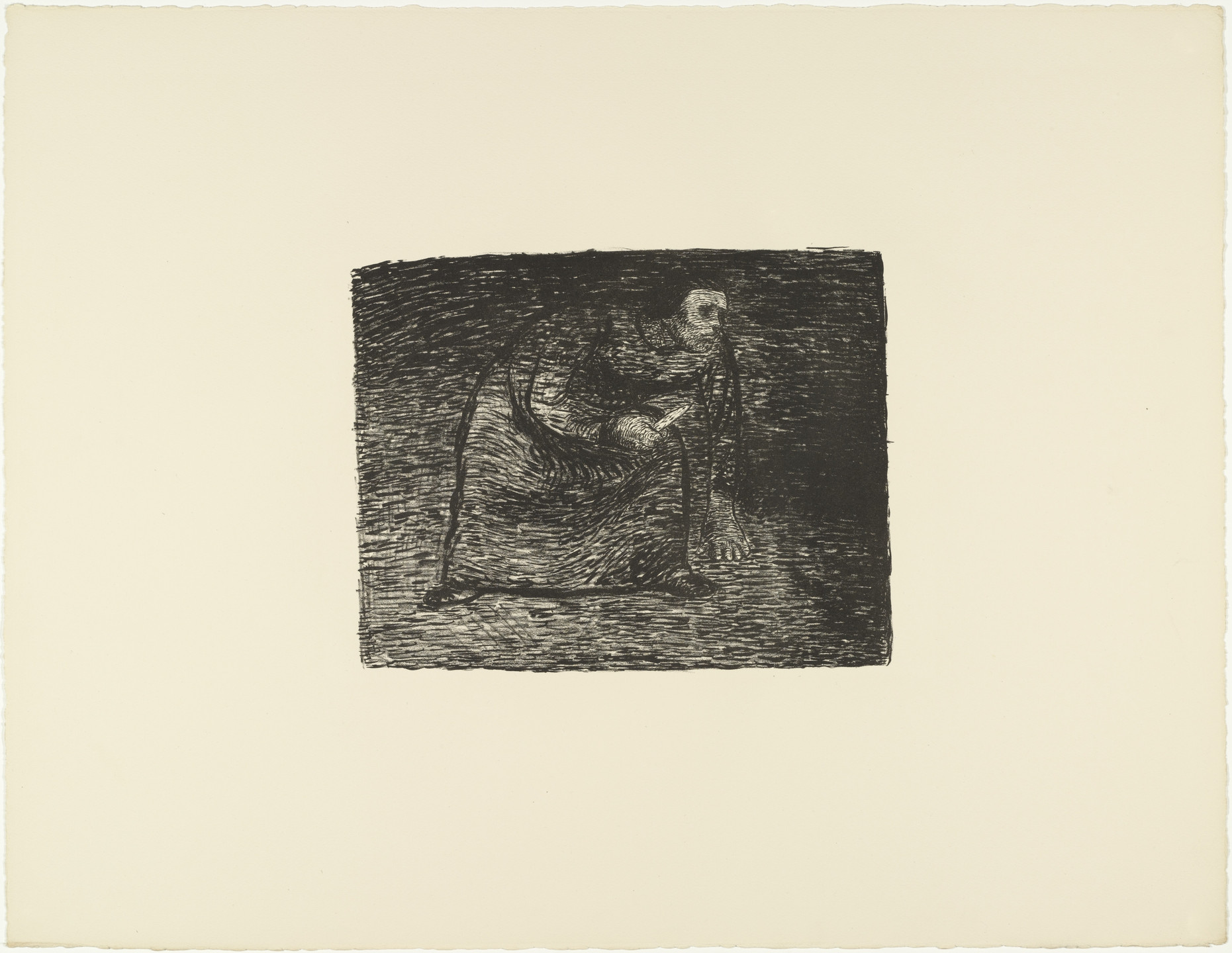 Ernst Barlach. Contemplating Murder (Auf Mord bedacht) from The Dead Day (Der tote Tag). (1910-11, published 1912)
