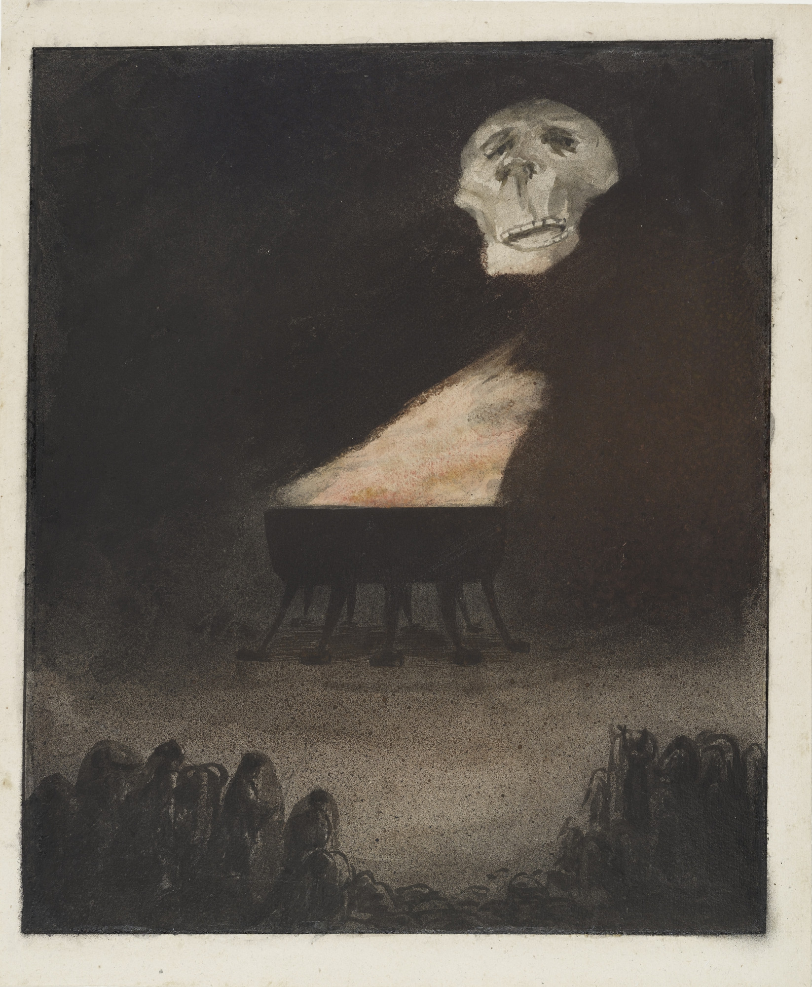 Alfred Kubin. Untitled (The Eternal Flame) (Ohne Titel [Die ewige Flamme]). c. 1900