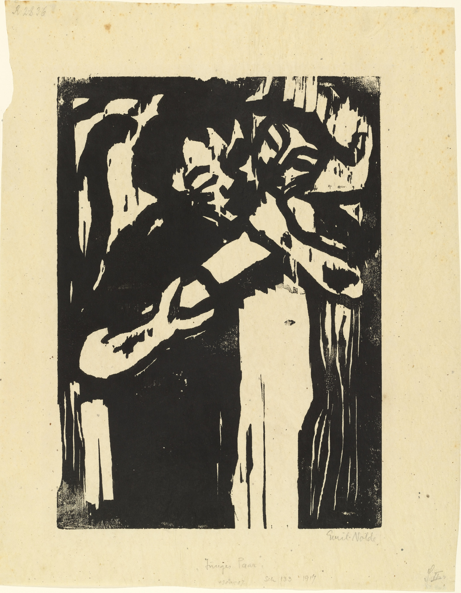 Emil Nolde. Young Couple (Junges Paar). (1917)
