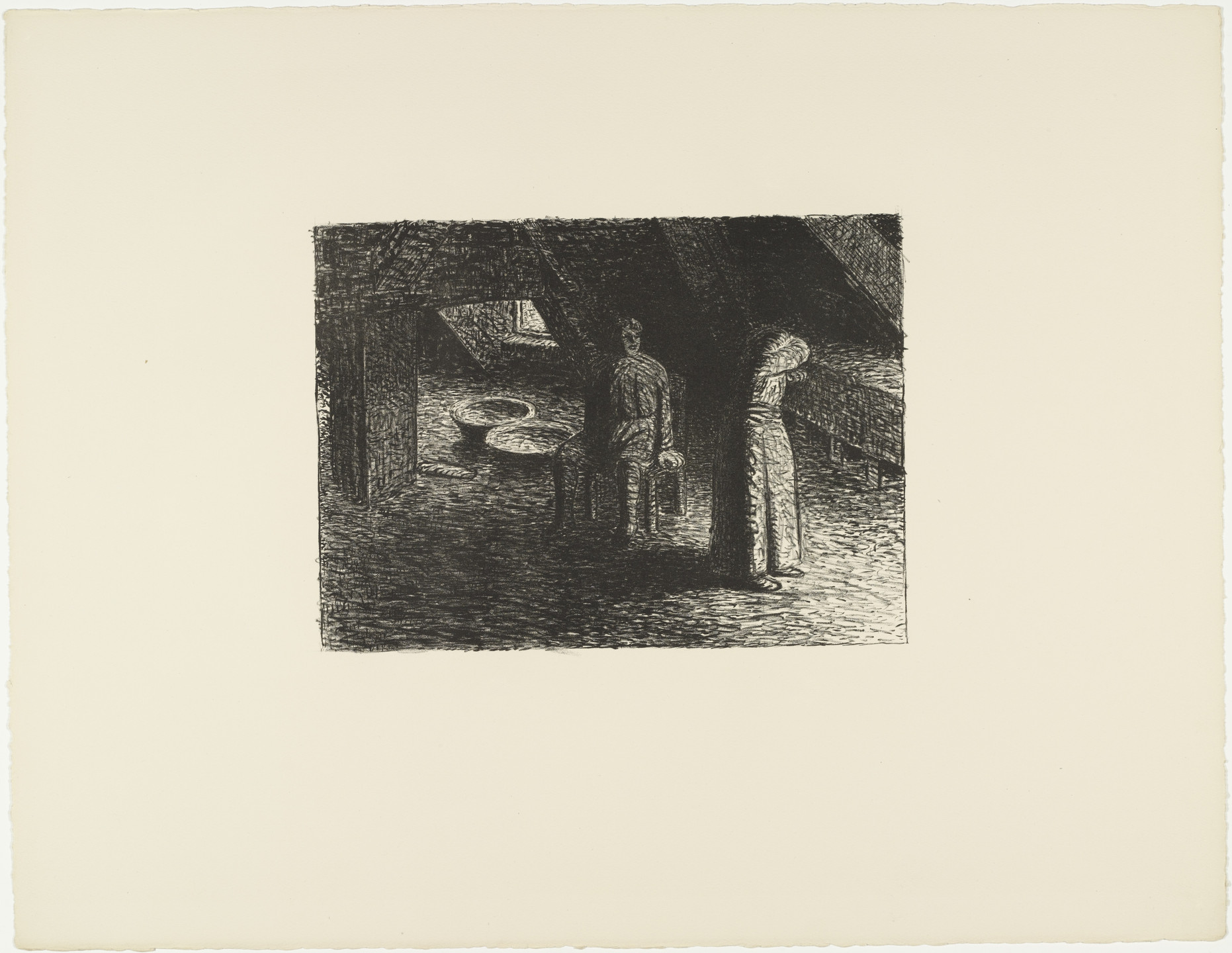Ernst Barlach. The Guilty Woman (Die Schuldbewußte) from The Dead Day (Der tote Tag). (1910-11, published 1912)