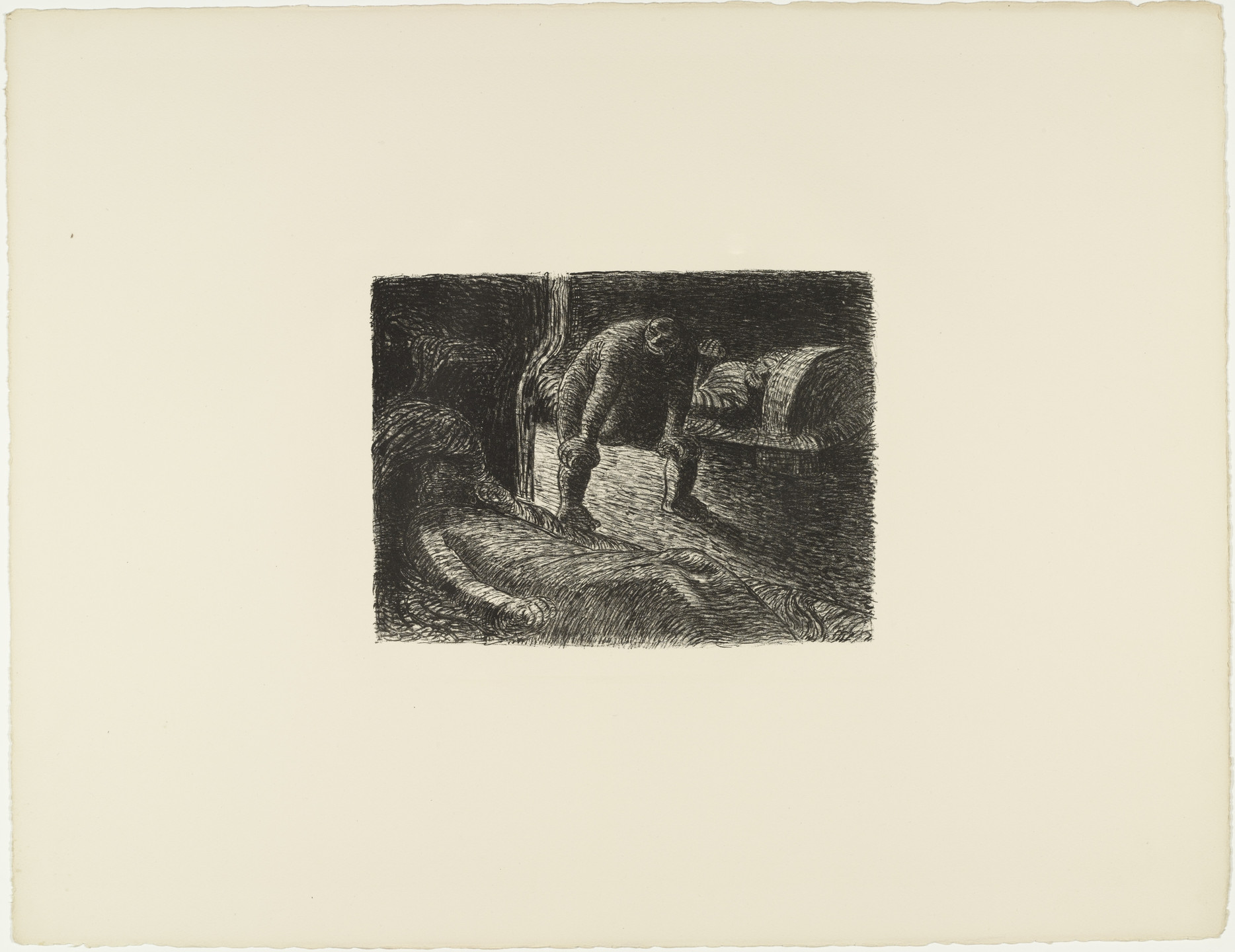 Ernst Barlach. The Gobblin (Der Alb) from The Dead Day (Der tote Tag). (1910-11, published 1912)