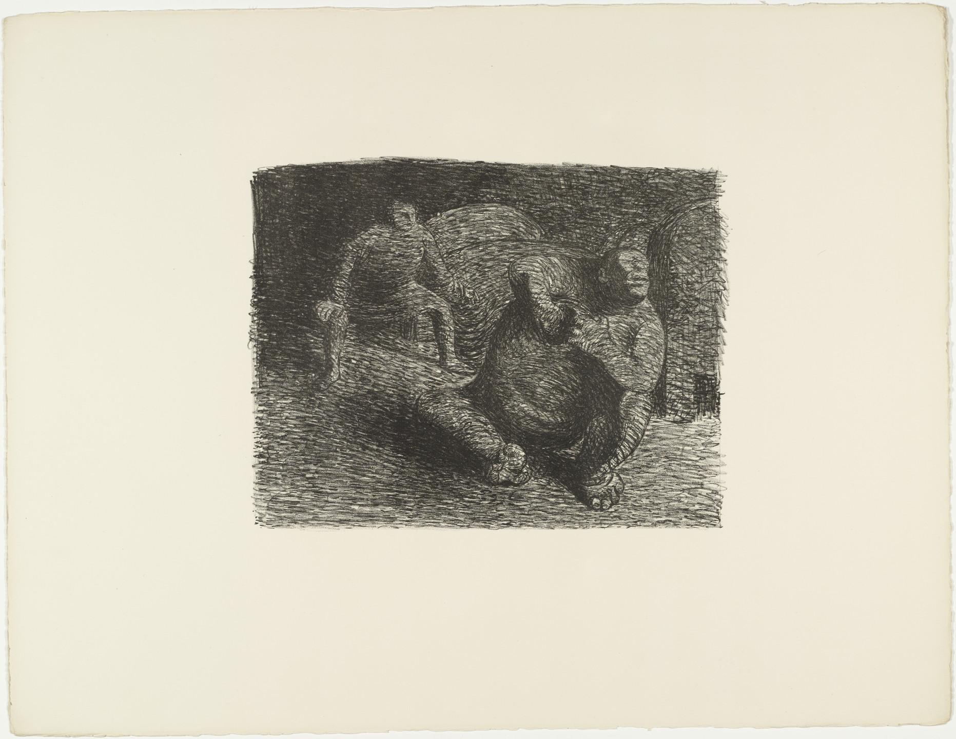 Ernst Barlach. Desperate Gobblin (Verzweifelter Alb) from The Dead Day (Der tote Tag). (1910-11, published 1912)