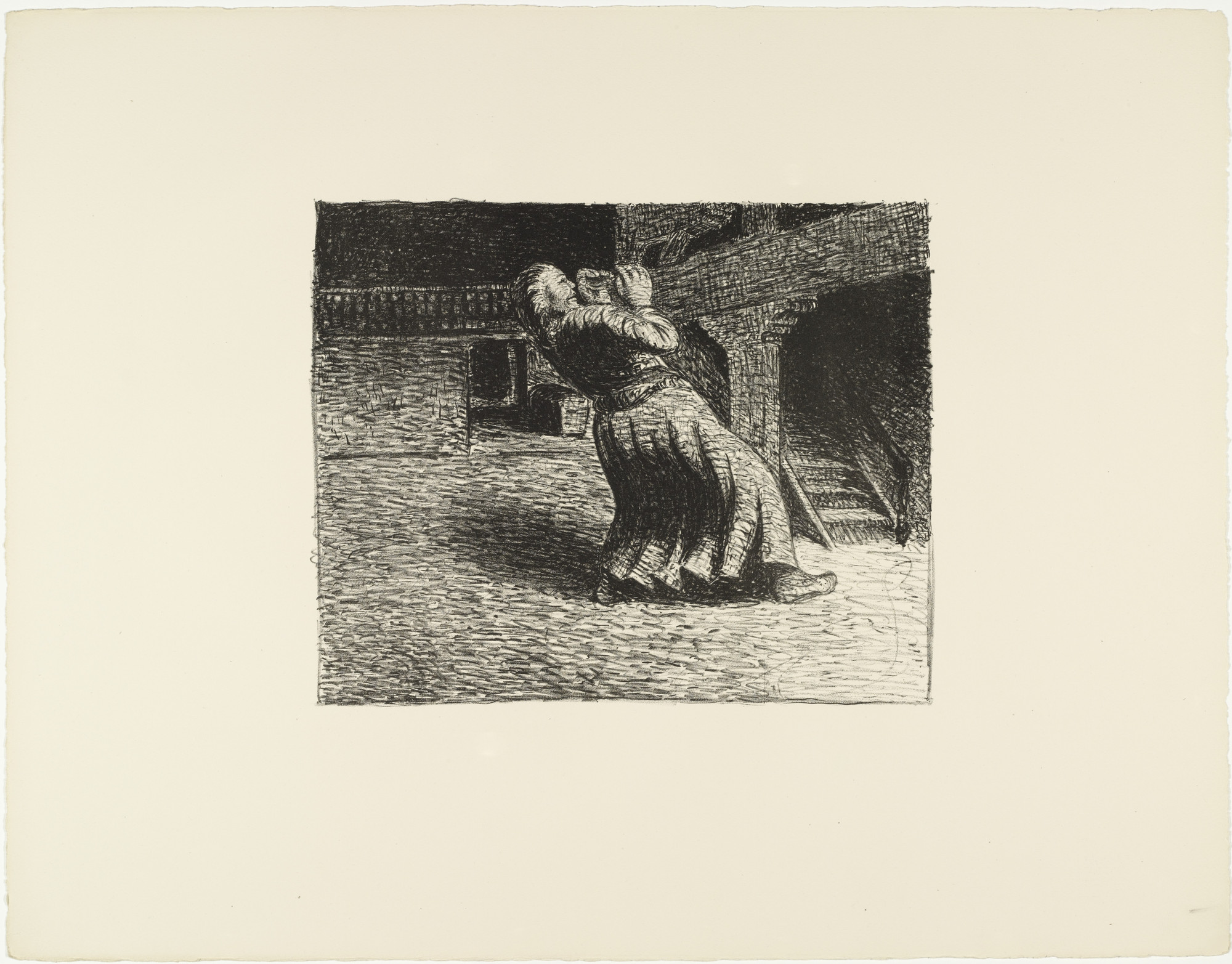 Ernst Barlach. The Invisible 1 (Das Unsichtbare 1) from The Dead Day (Der tote Tag). (1910-11, published 1912)