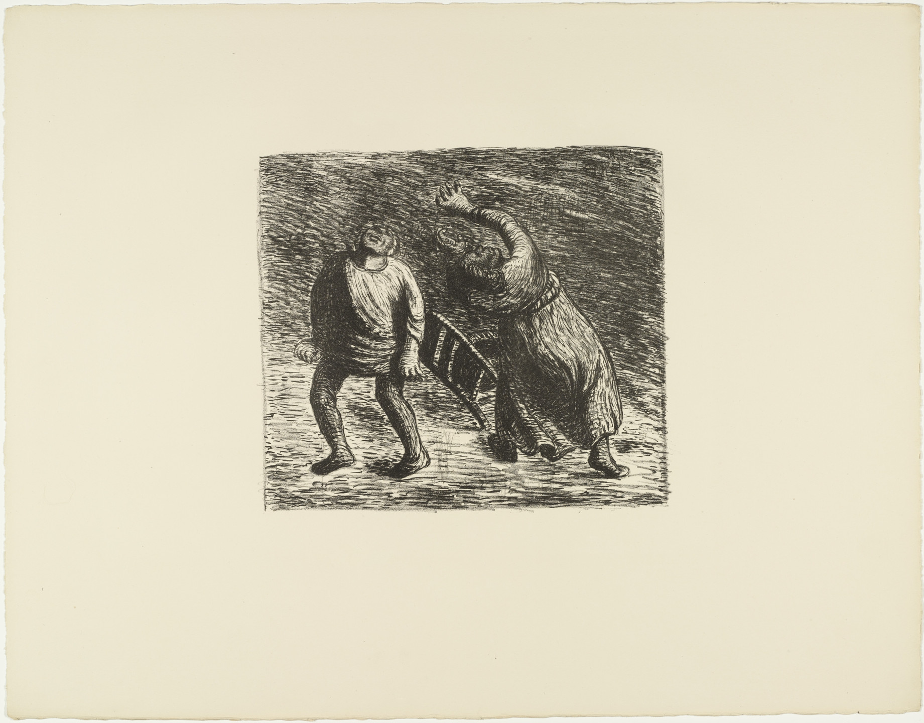 Ernst Barlach. The Invisible 2 (Das Unsichtbare 2) from The Dead Day (Der Tote Tag). 1910-11, published 1912