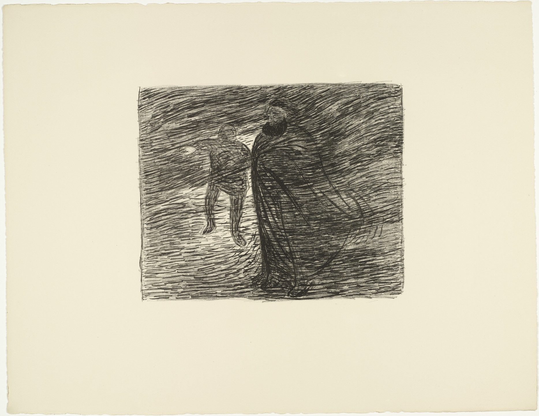 Ernst Barlach. Specter in the Fog (Erscheinung im Nebel) from The Dead Day (Der tote Tag). (1910-11, published 1912)