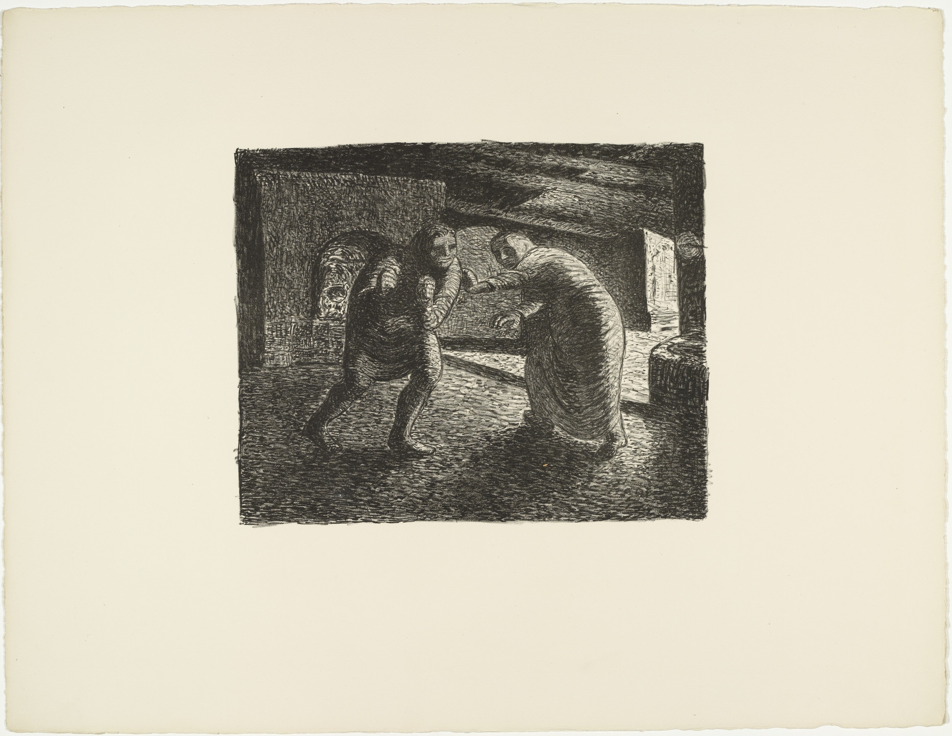Ernst Barlach. Departure and Defense (Aufbruch und Abwehr) from The Dead Day (Der tote Tag). (1910-11, published 1912)