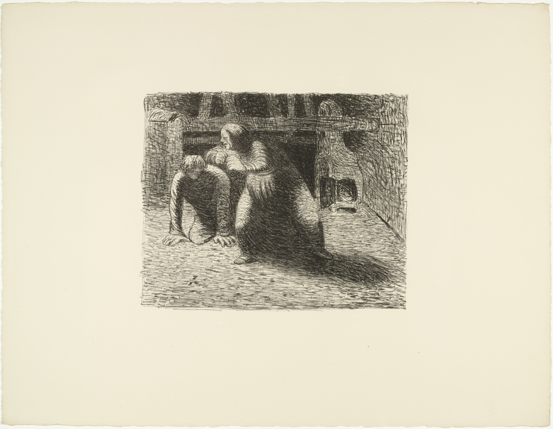 Ernst Barlach. The Curse (Verfluchung) from The Dead Day (Der tote Tag). (1910-11, published 1912)