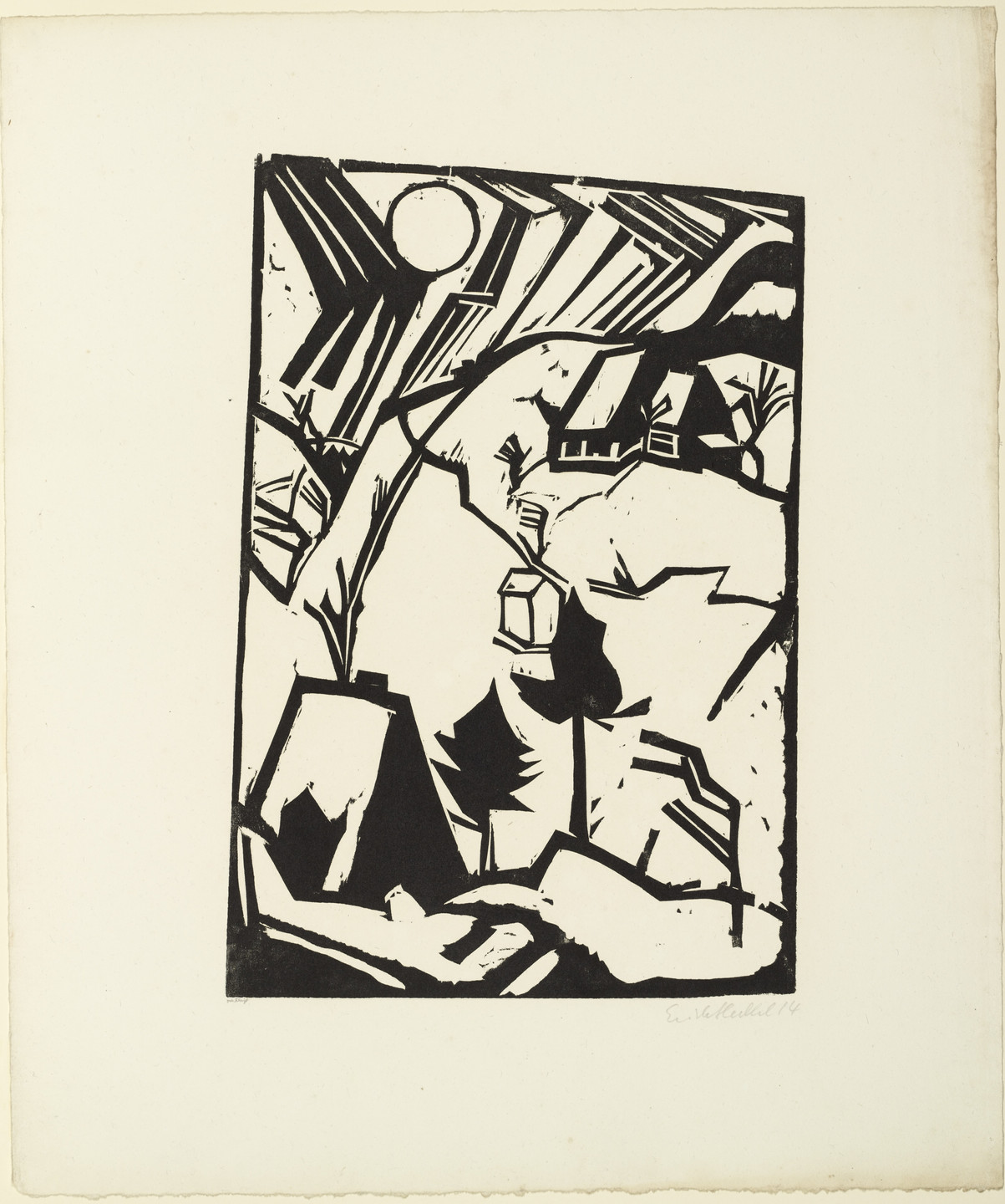 Erich Heckel. Driving Snow (Schneetreiben) from the portfolio Eleven Woodcuts, 1912-1919 (Elf Holzschnitte, 1912-1919). 1914 (published 1921)