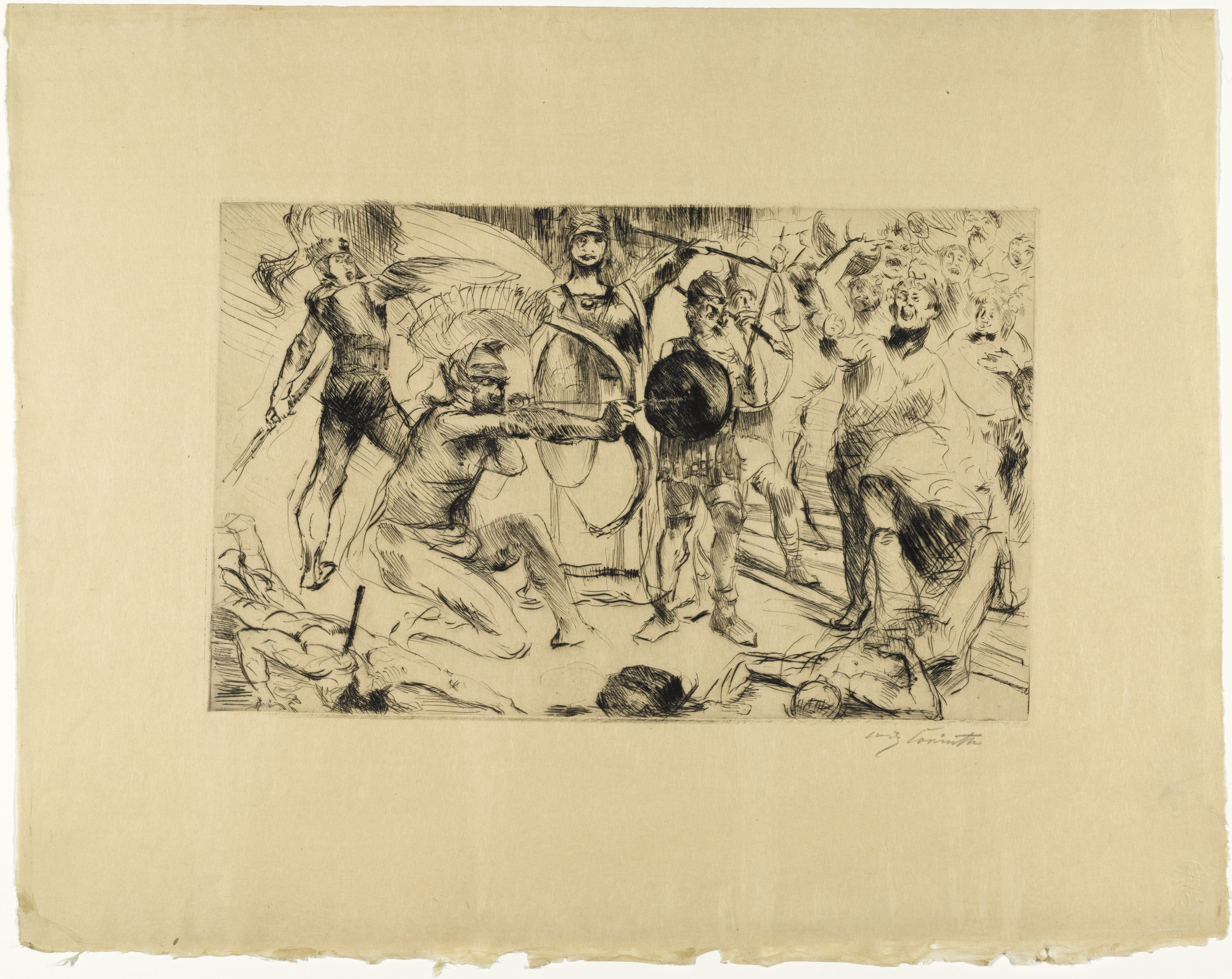 Lovis Corinth. Odysseus and the Suitors (Odysseus und die Freier) from Classical Legends (Antike Legenden). (1919)