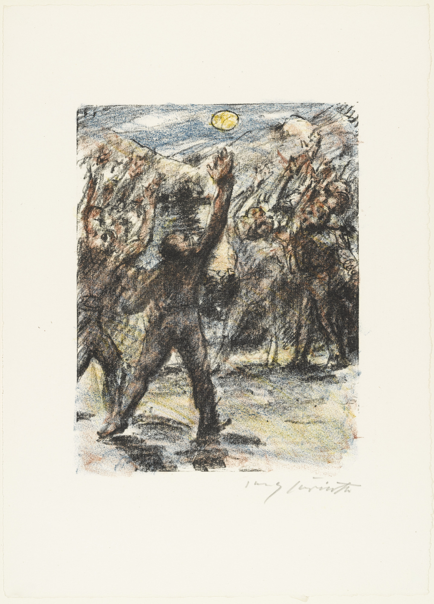 Lovis Corinth. The Oath on Rütli (Der Schwur auf dem Rütli) from William Tell (Wilhelm Tell). (1923-24, published 1925)