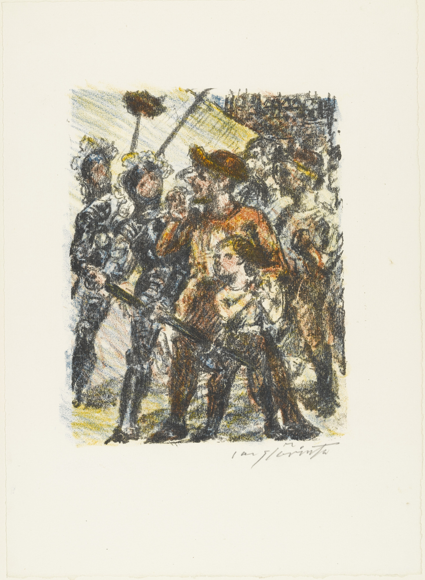 Lovis Corinth. Tell and His Son in Front of the Hat (Tell und sein Sohn vor dem Hut) from William Tell (Wilhelm Tell). (1923-24, published 1925)