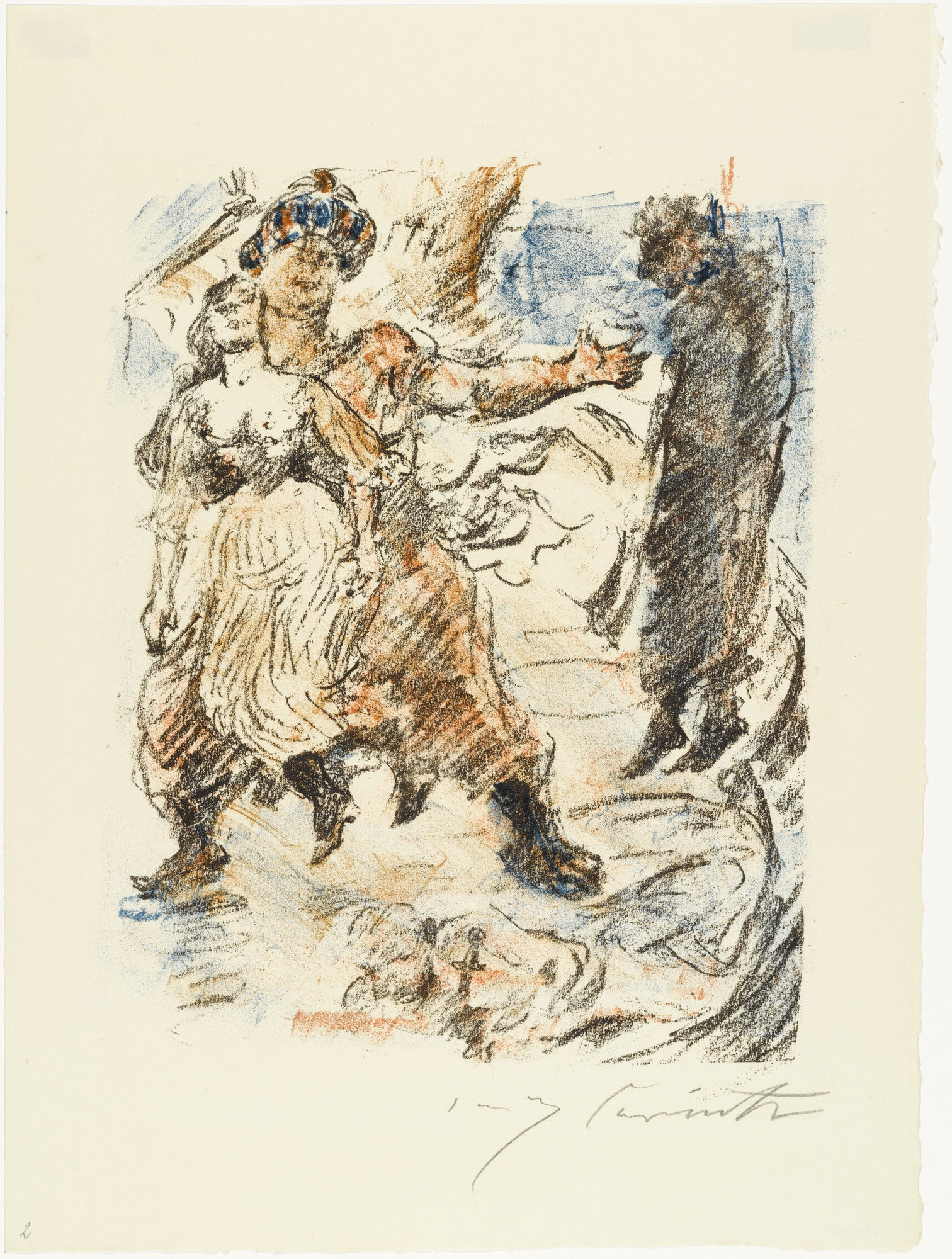 Lovis Corinth. Aline Falls into the Hands of Corsairs (Aline fällt in die Hand der Korsaren) from The Queen of Golconda (Die Königin von Golkonde). (1920/21)