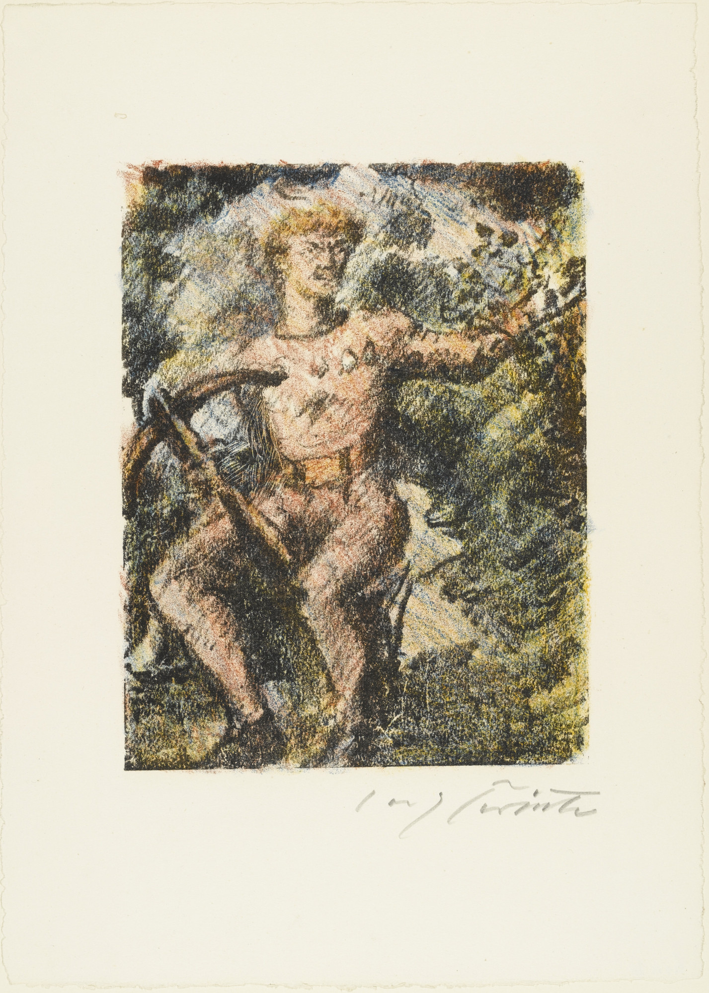 "Lovis Corinth. ""Through this Narrow Pass He Must Come"" (""Durch diese hohle Gasse muss er kommen"") from William Tell (Wilhelm Tell). (1923-24, published 1925)"