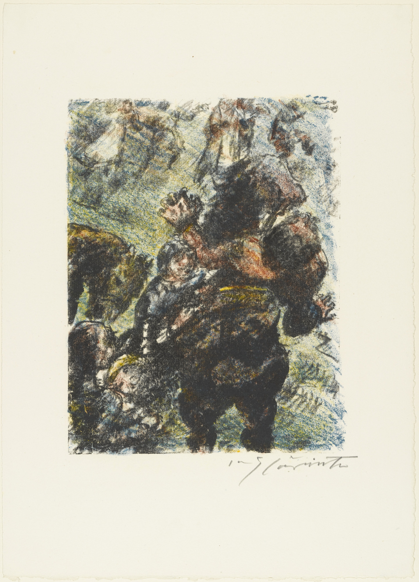 Lovis Corinth. Gessler's Death (Gesslers Tod) from William Tell (Wilhelm Tell). (1923-24, published 1925)