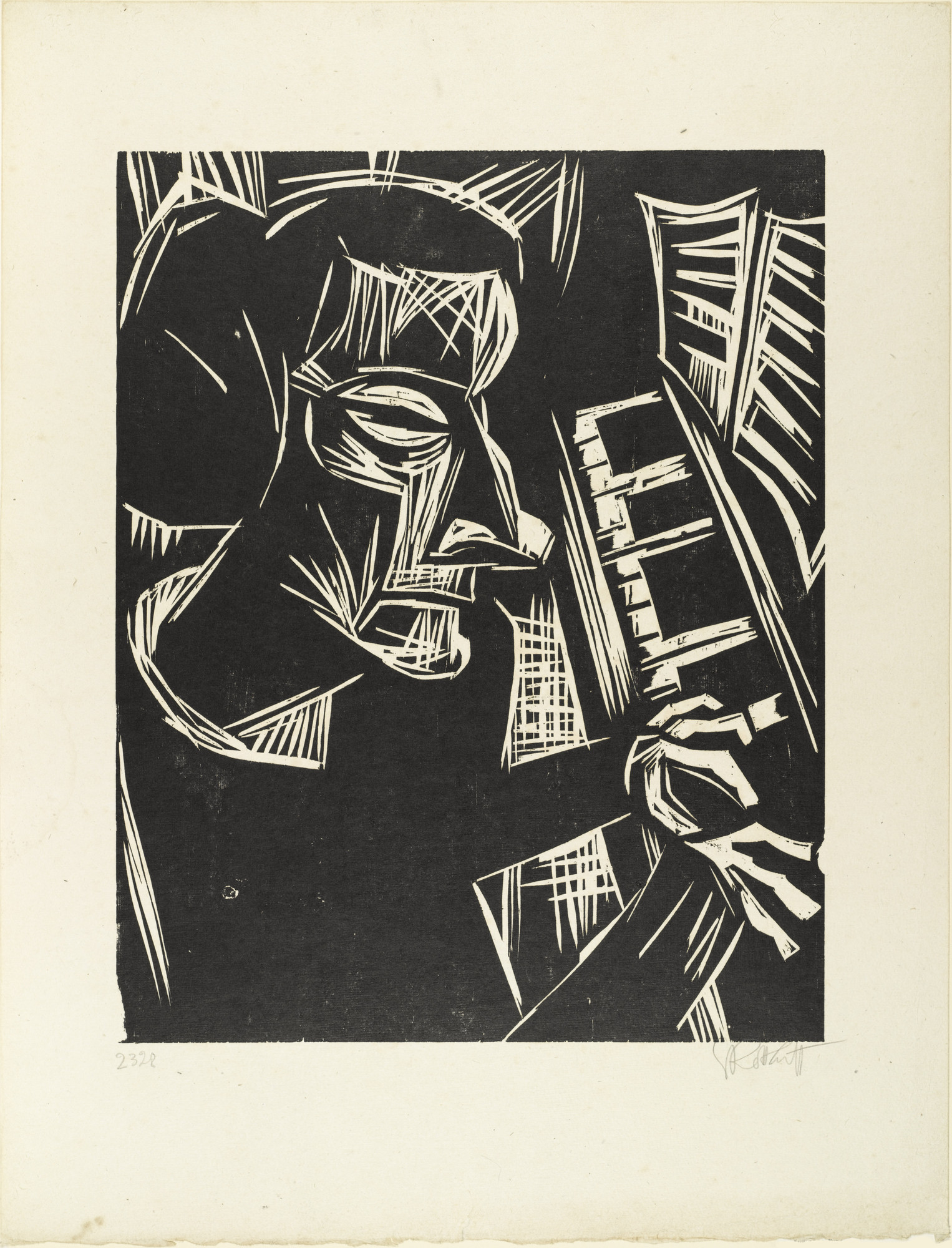 Karl Schmidt-Rottluff. Woman at the Piano (Frau am Klavier). 1923