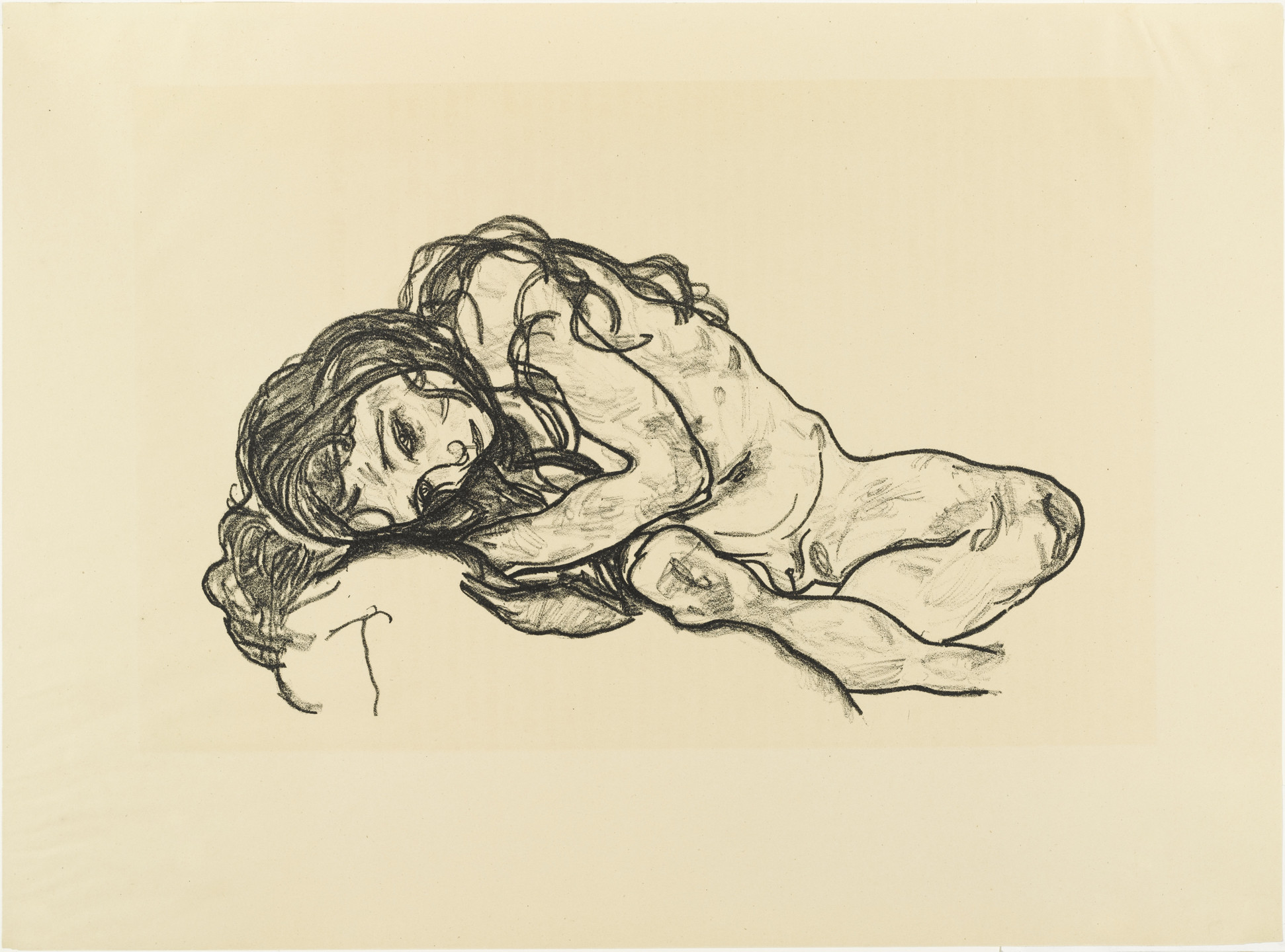 Egon Schiele. Girl (Mädchen) from The Graphic Work of Egon Schiele (Das Graphische Werk von Egon Schiele). (1918, published 1922)