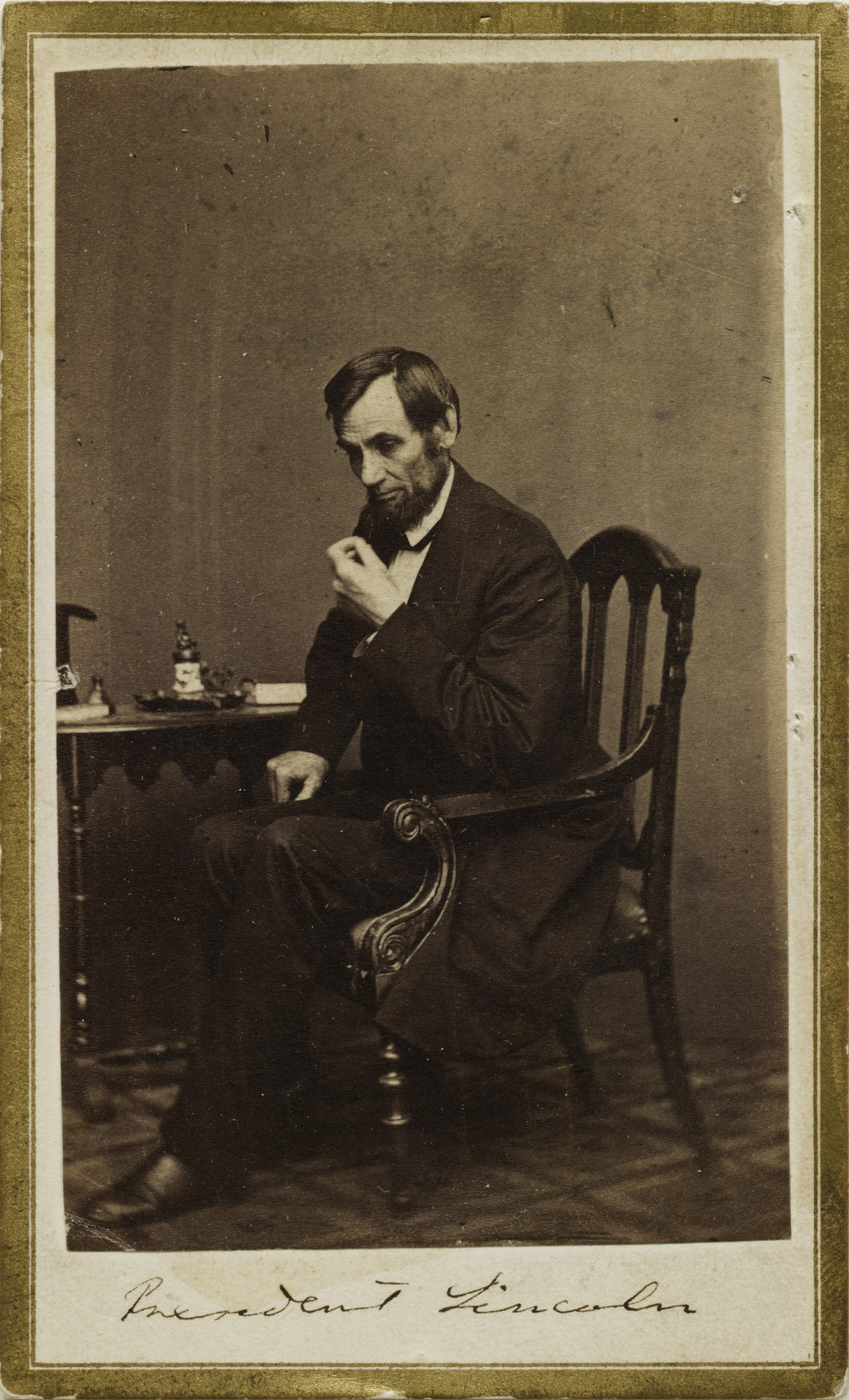 Mathew B. Brady (studio of). President Lincoln. c. 1862