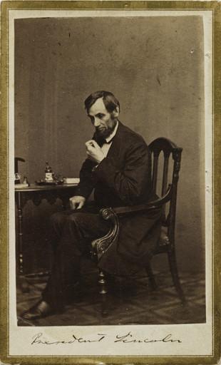 Mathew B Brady Studio Of President Lincoln C 1862