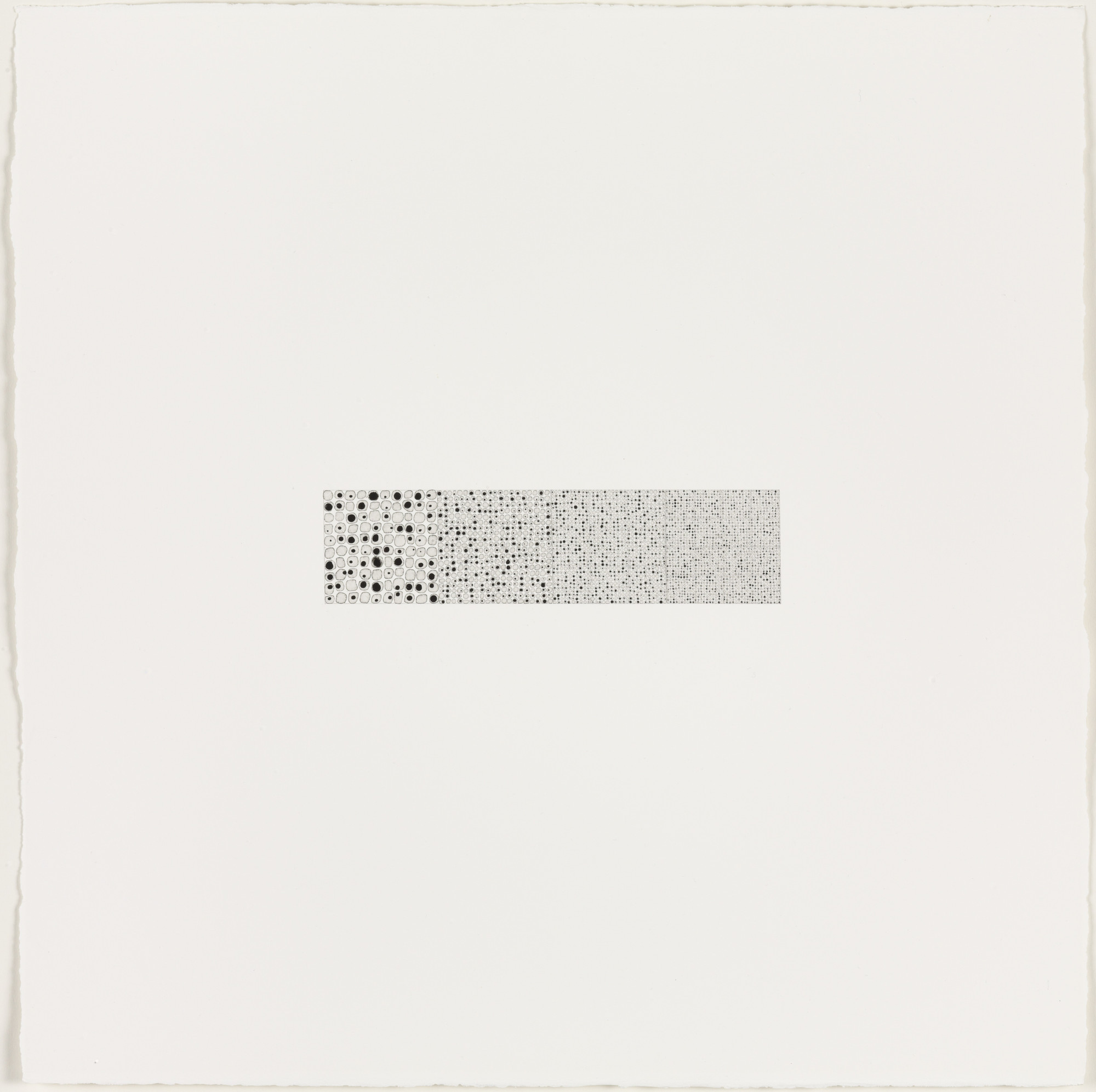 Teo González. Drawing #143 (3,000 Black on White 10 and direct 10 Gauge 1.5-2-3-6 mm). (2002)