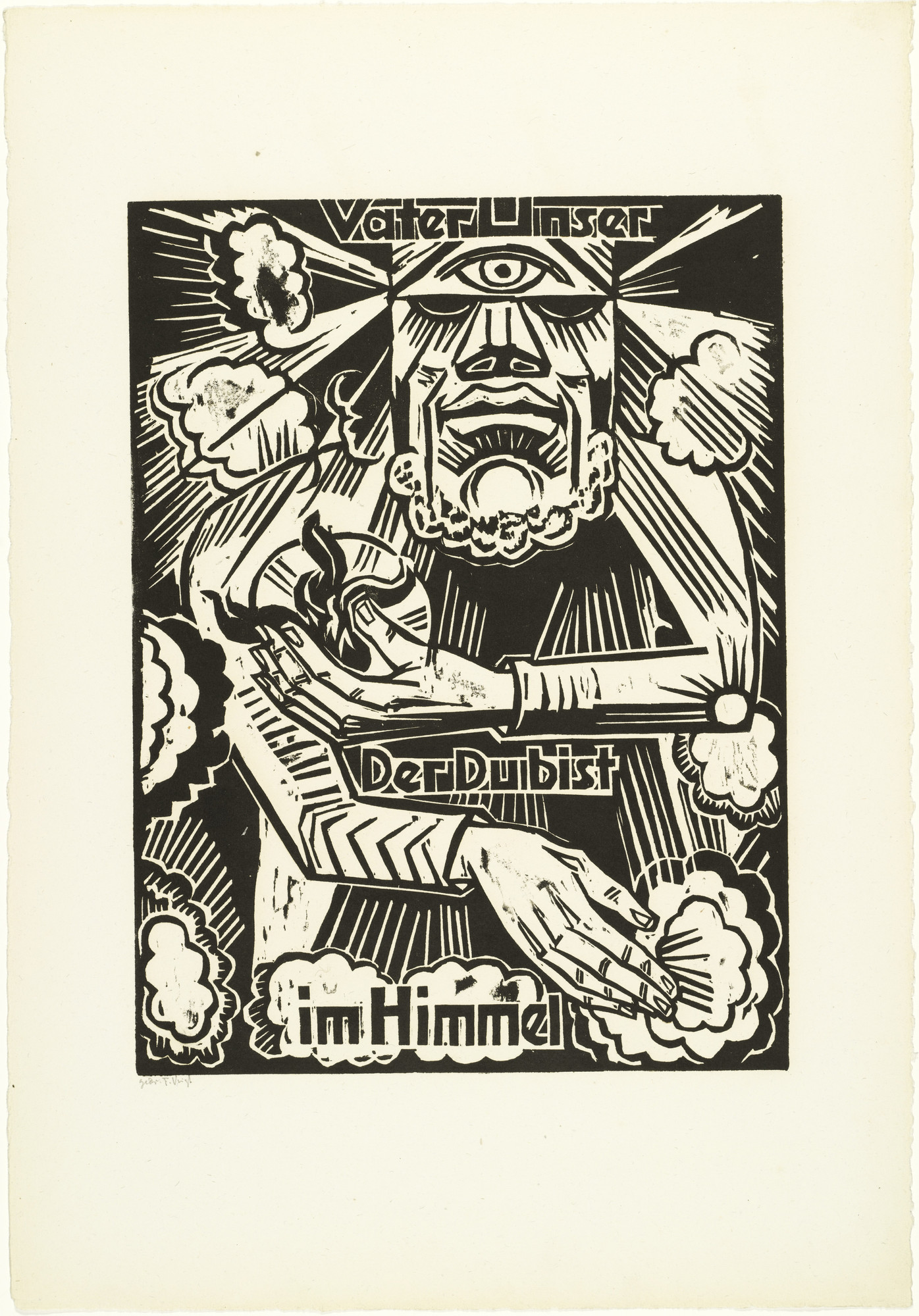 Max Pechstein. Our Father / which art / in heaven (Vaterunser / Der Du bist / im Himmel) from The Lord's Prayer (Das Vater Unser). 1921