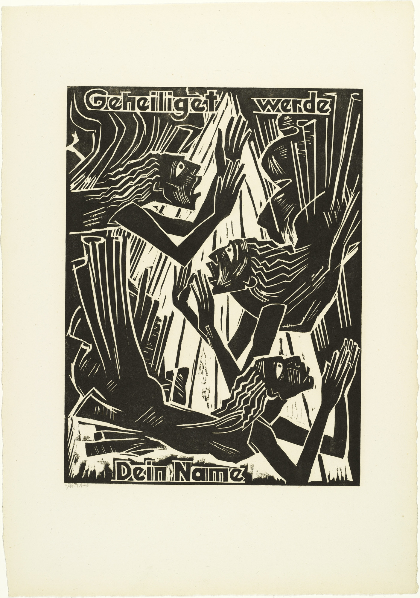 Max Pechstein. Hallowed be / Thy name (Geheiliget werde / Dein Name) from The Lord's Prayer (Das Vater Unser). 1921