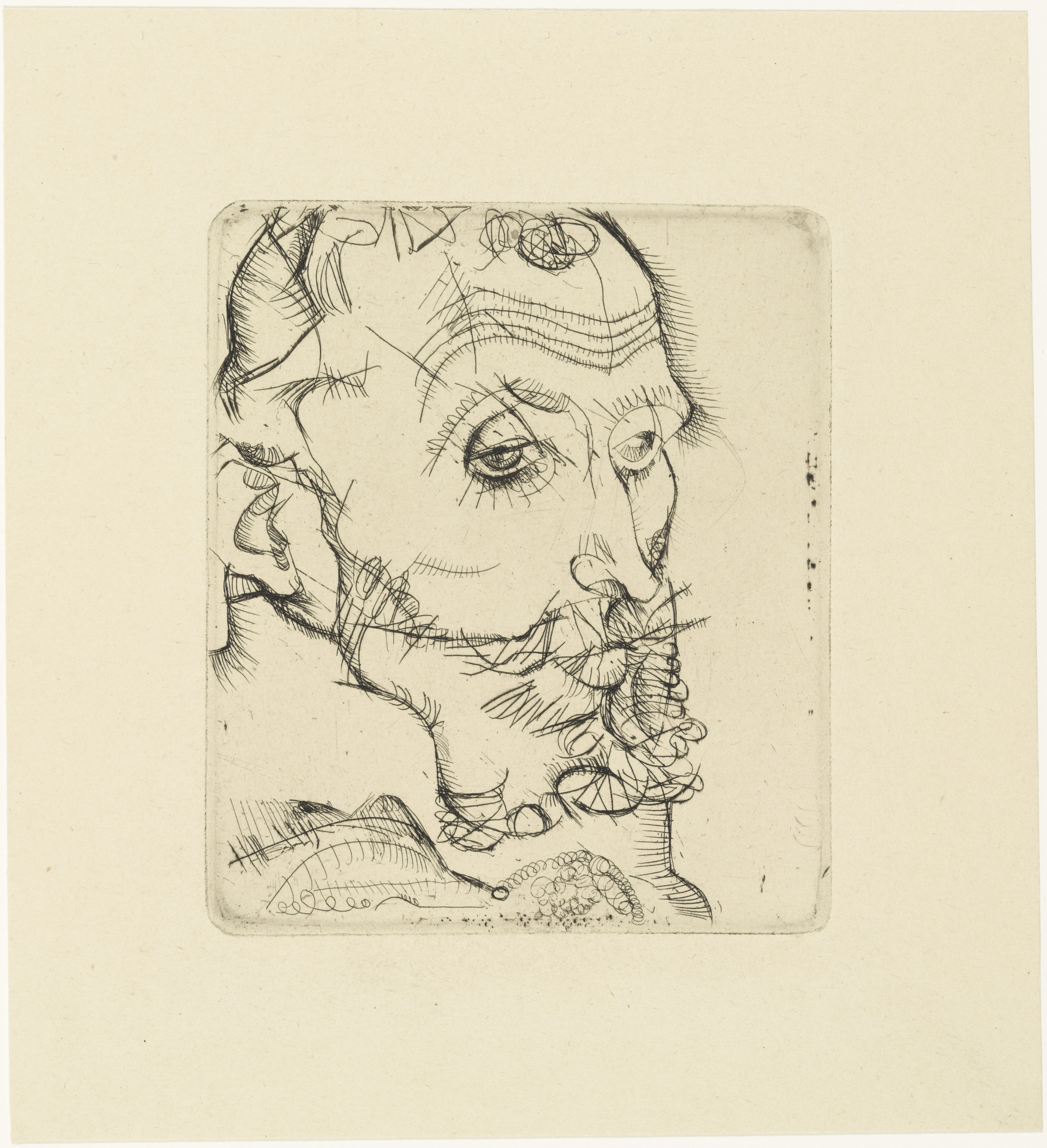 Egon Schiele. Portrait of Franz Hauer (Bildnis Franz Hauer) from The Graphic Work of Egon Schiele (Das Graphische Werk von Egon Schiele). (1914, published 1922)