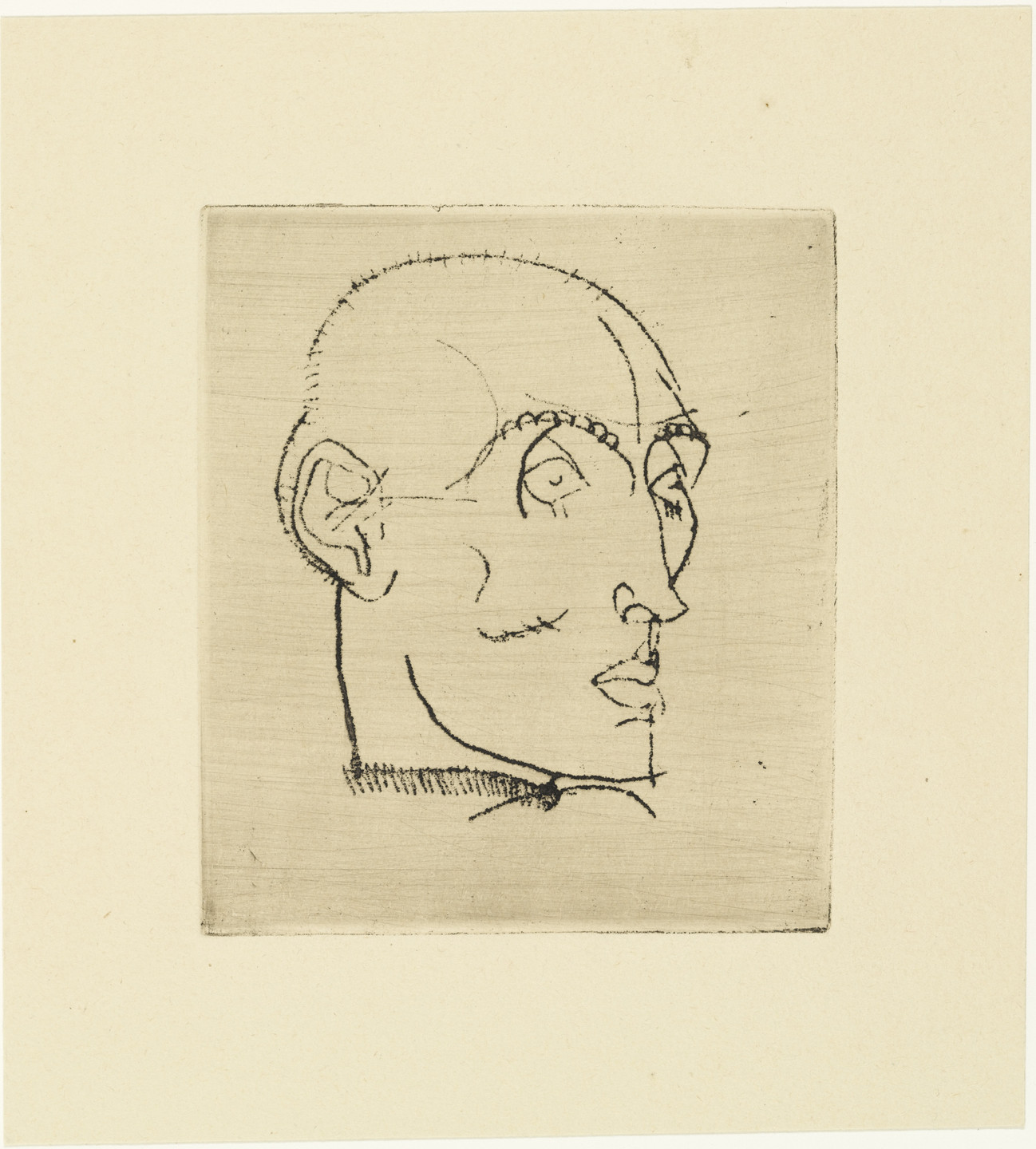 Egon Schiele. Portrait of a Man (Männliches Bildnis) from The Graphic Work of Egon Schiele (Das Graphische Werk von Egon Schiele). (1914, published 1922)