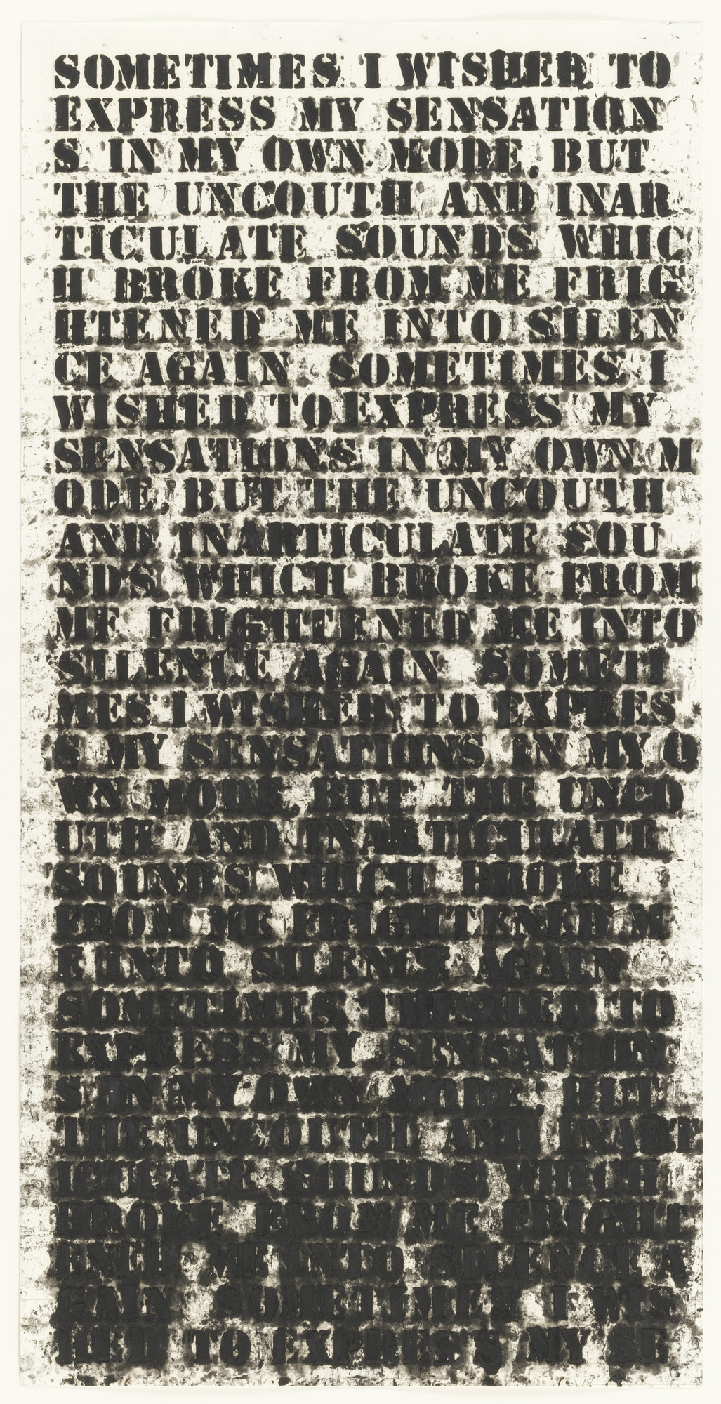 Glenn Ligon. Study for Frankenstein #1. (1992)
