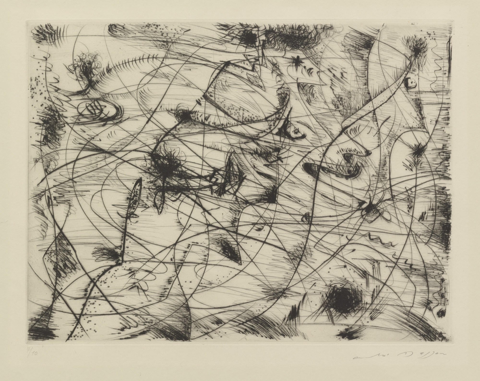 André Masson. Abduction. c. 1946 (printed 1958)