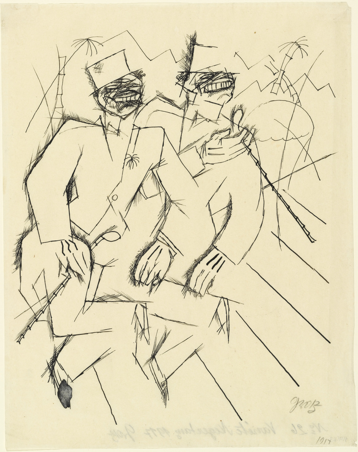 George Grosz. The Christmas Brothers. 1917