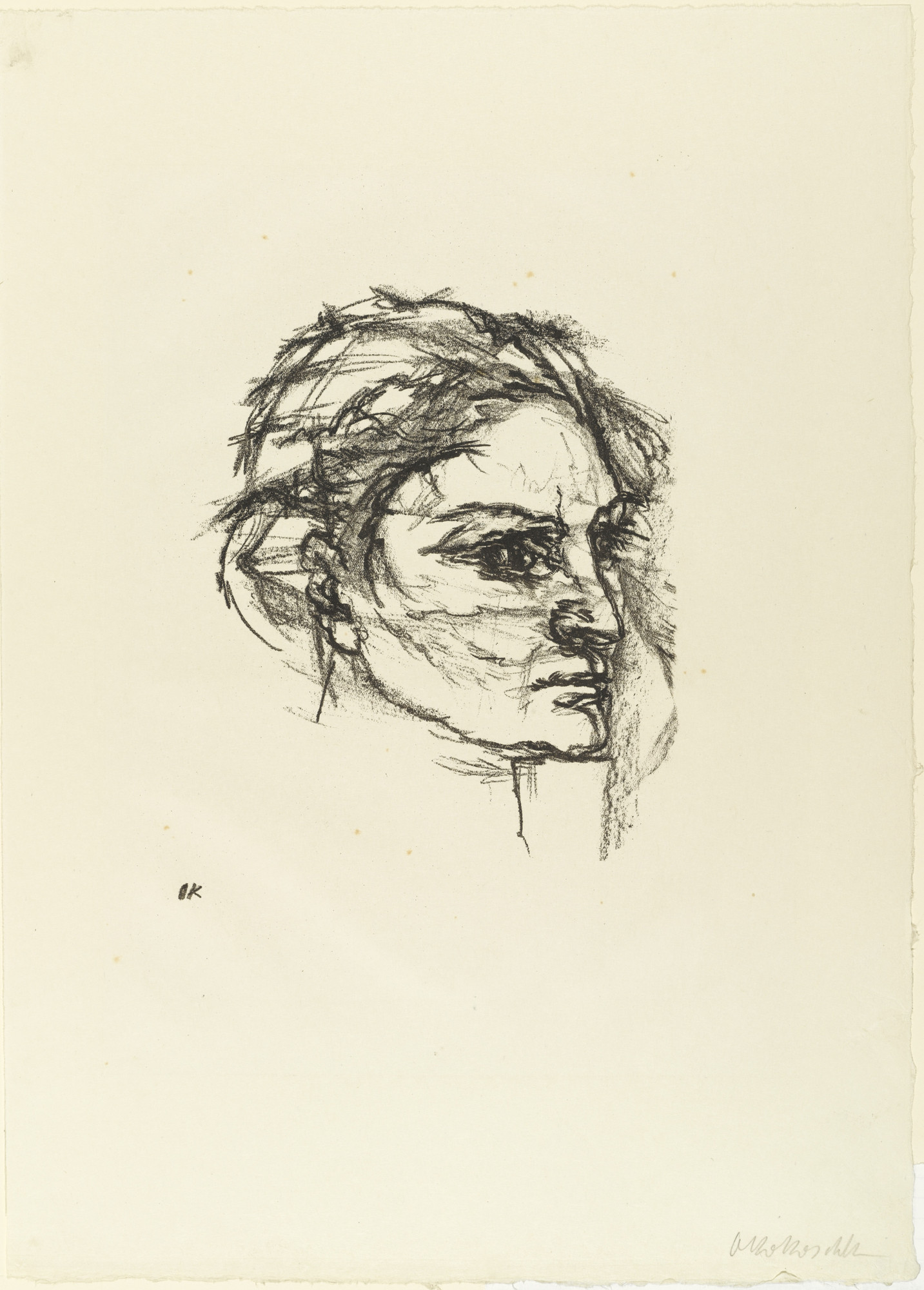 Oskar Kokoschka. The Face of Woman (Des Gesicht des Weibes) from The Bound Columbus (Der gefesselte Columbus). 1916 (executed 1913)