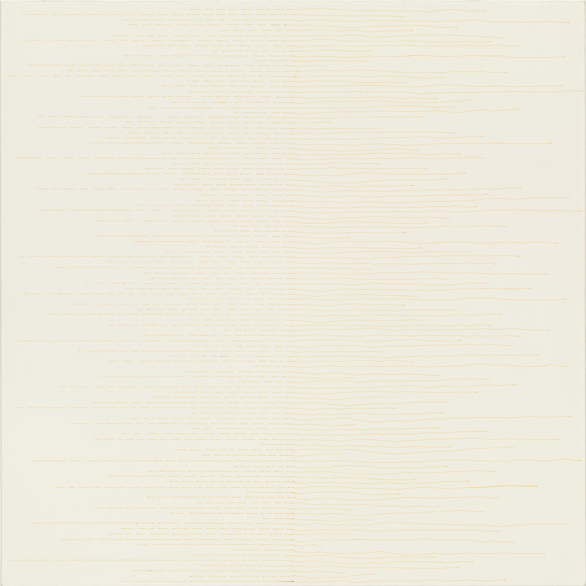 Sol LeWitt. Yellow Lines from the Center. 1972