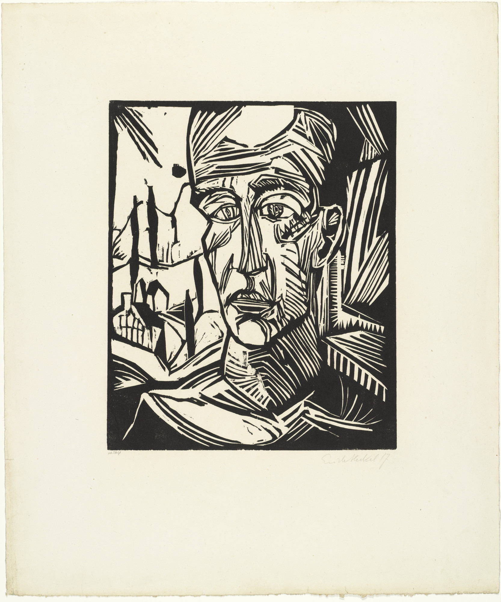 Erich Heckel. Young Man (Jüngling) from the portfolio Eleven Woodcuts, 1912-1919 (Elf Holzschnitte, 1912-1919). 1917 (published 1921)