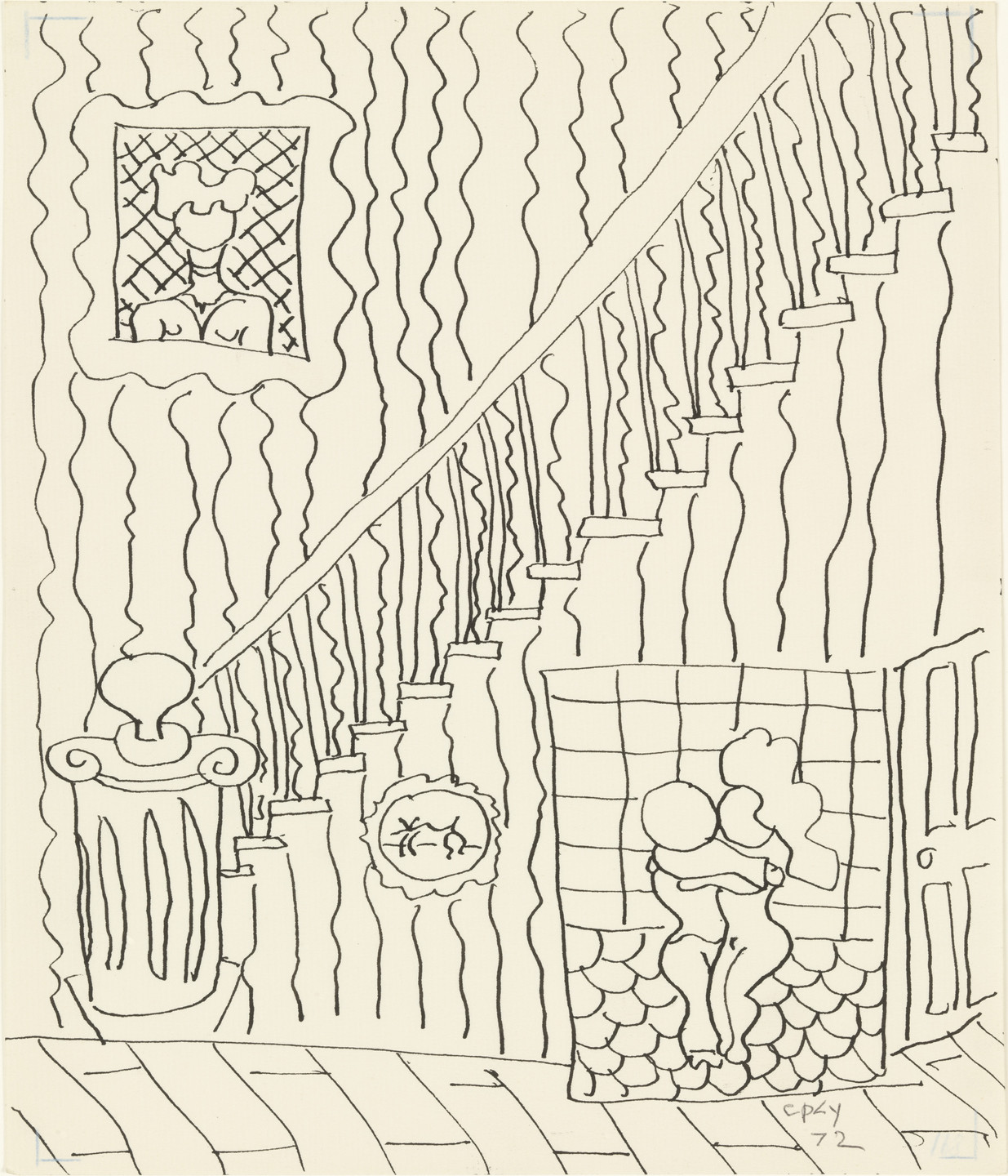 William Copley. Untitled (Staircase). 1972