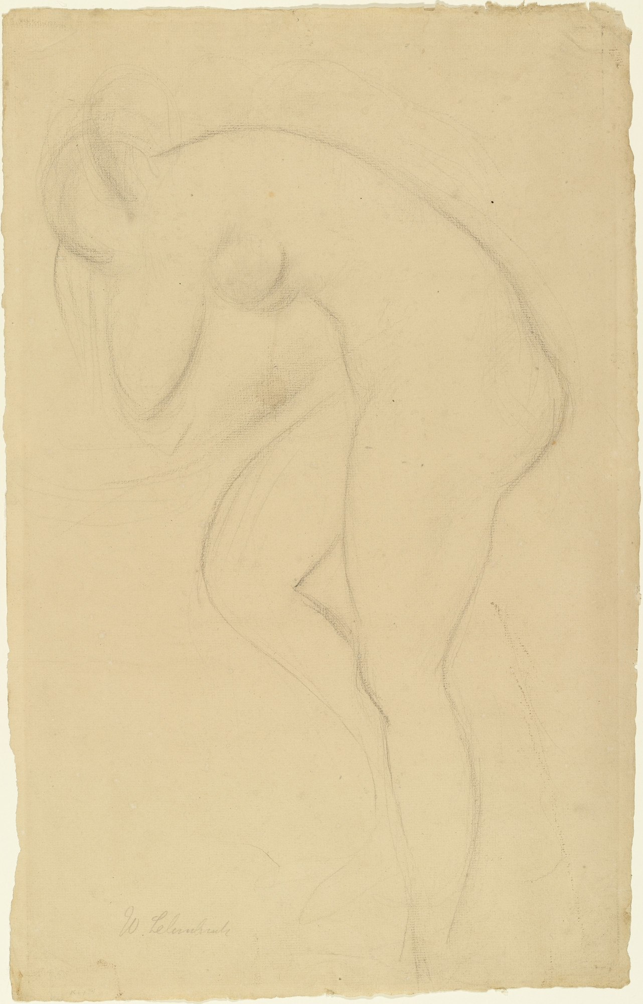 Wilhelm Lehmbruck. Study for Bather. (1913)