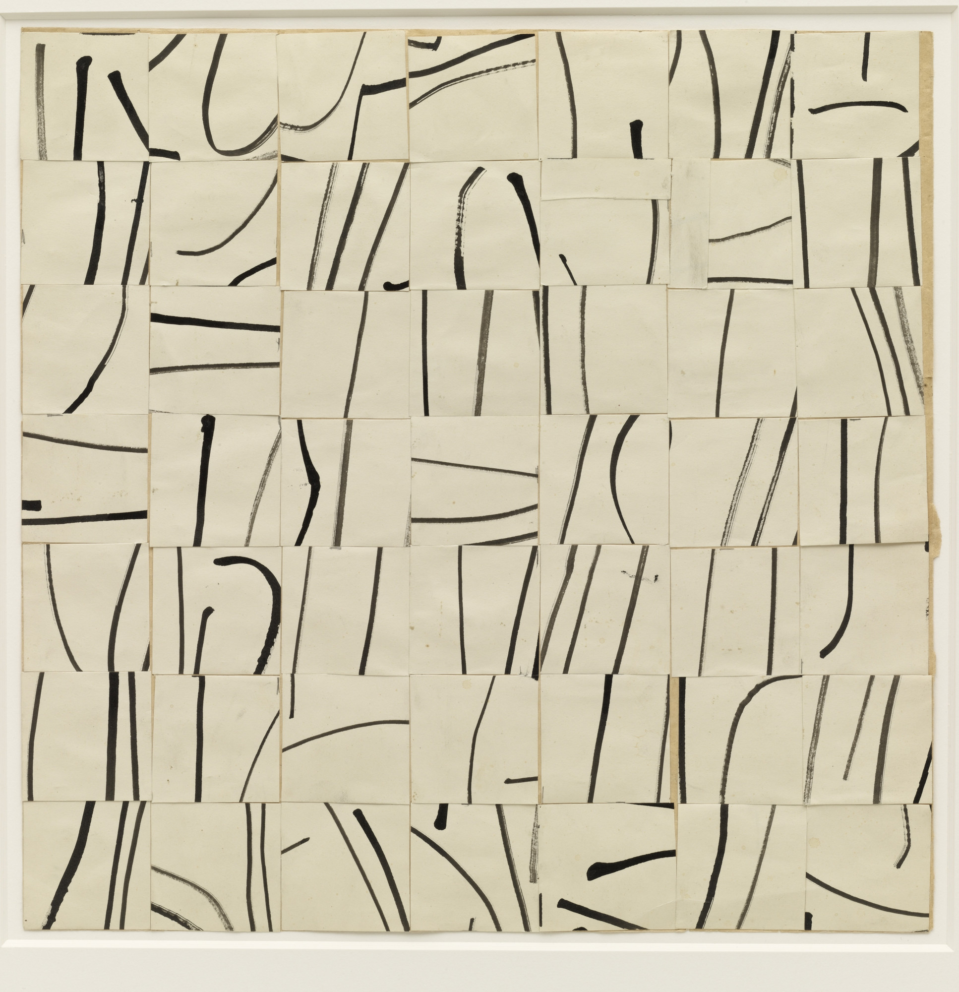 Ellsworth Kelly. Brushstrokes Cut into Forty-Nine Squares and Arranged by Chance. 1951