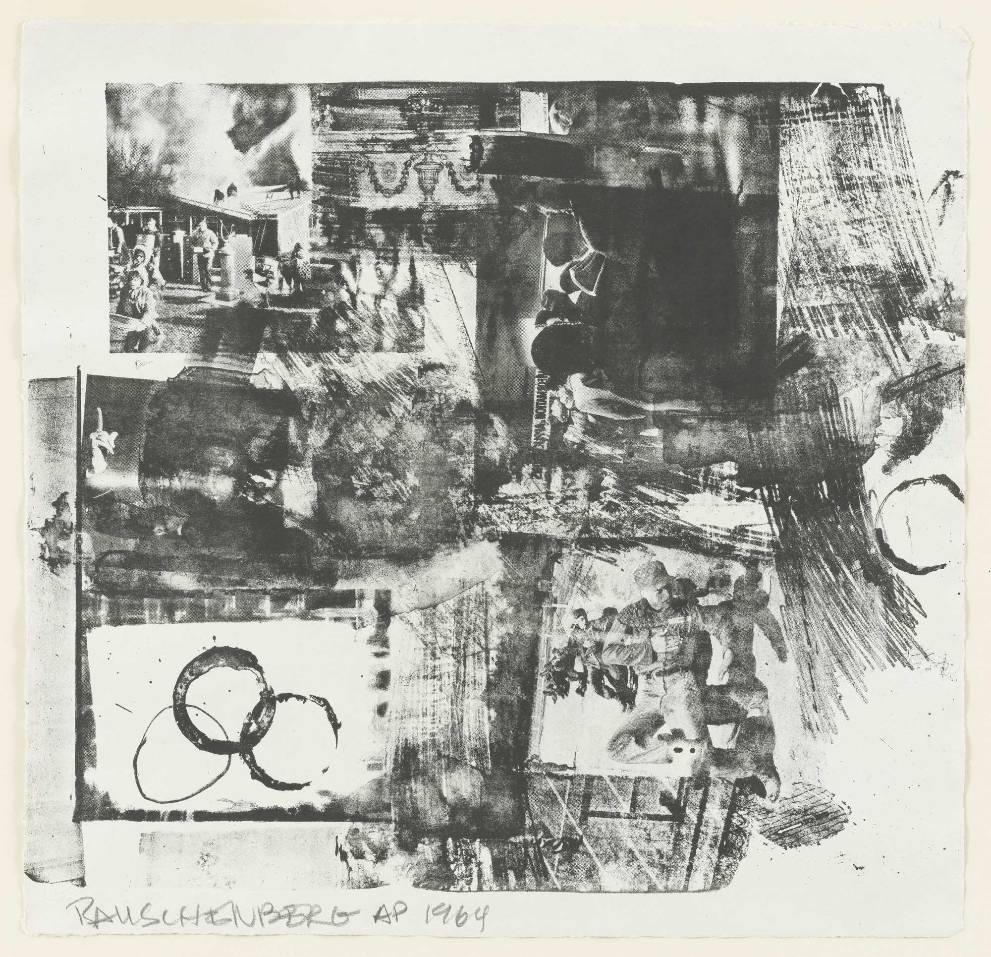 Robert Rauschenberg. Prize, supplementary plate for the deluxe edition of the illustrated book, Rauschenberg: XXXIV Drawings for Dante's Inferno. 1964