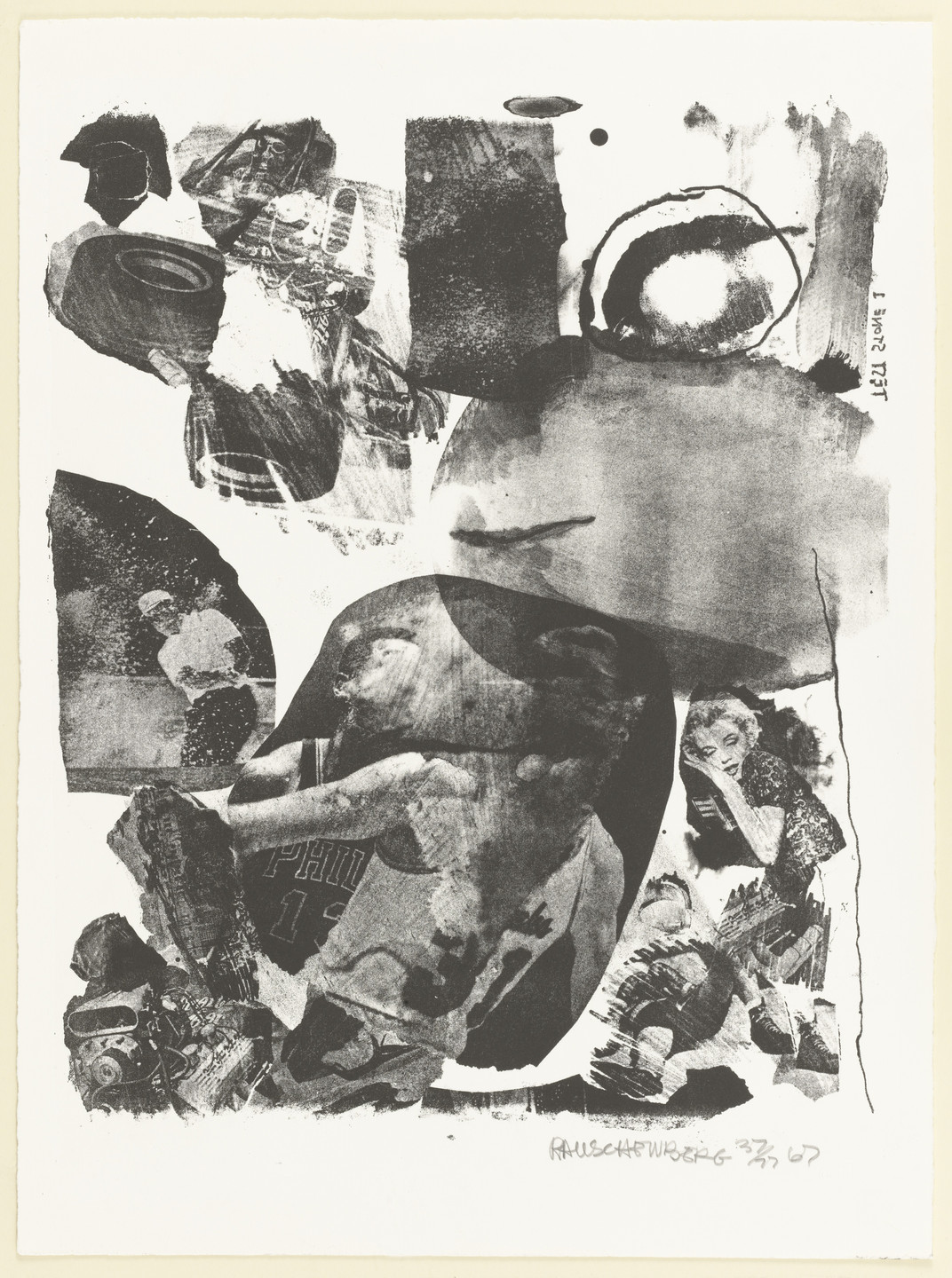 Robert Rauschenberg. Test Stone #1 (Marilyn Monroe) from Booster and 7 Studies. 1967