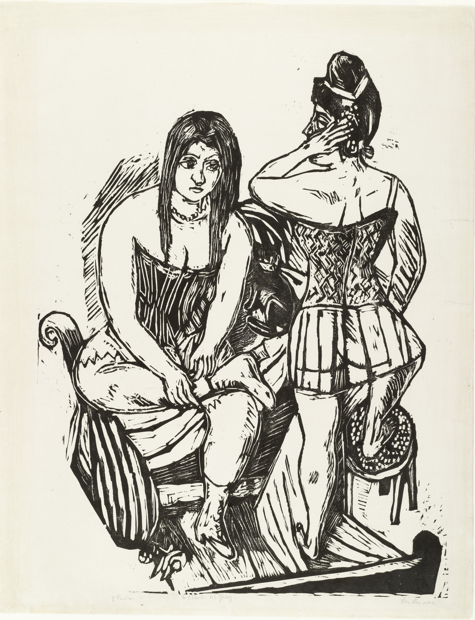 Max Beckmann. At the Toilette (Bei der Toilette). 1923 (published 1924)