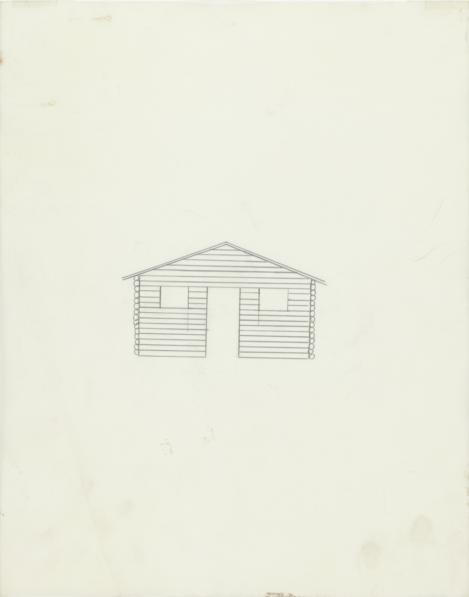 Cady Noland. Untitled (Log Cabin). 1990