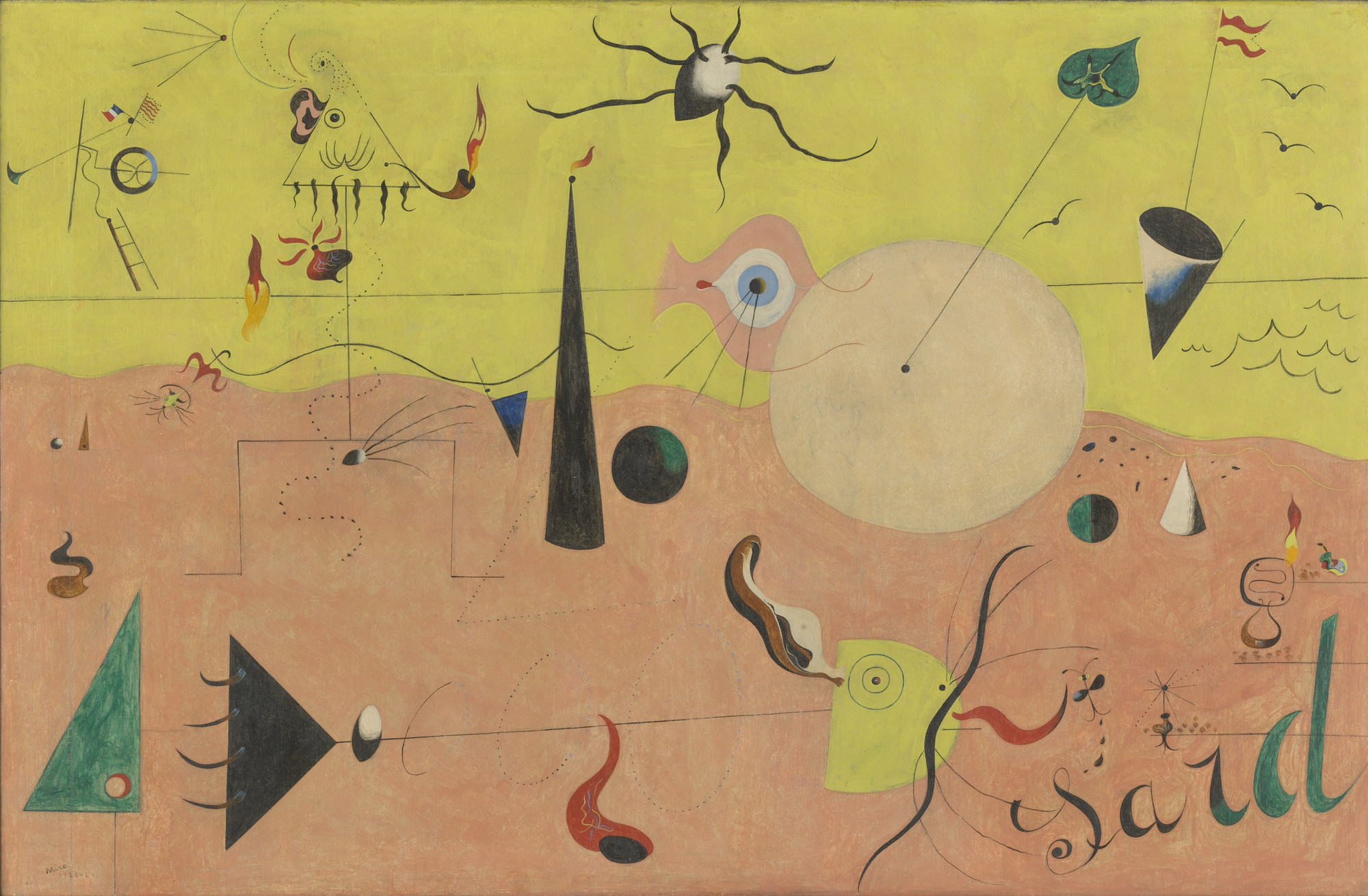 Joan Miró. The Hunter (Catalan Landscape). Montroig, July 1923-winter 1924