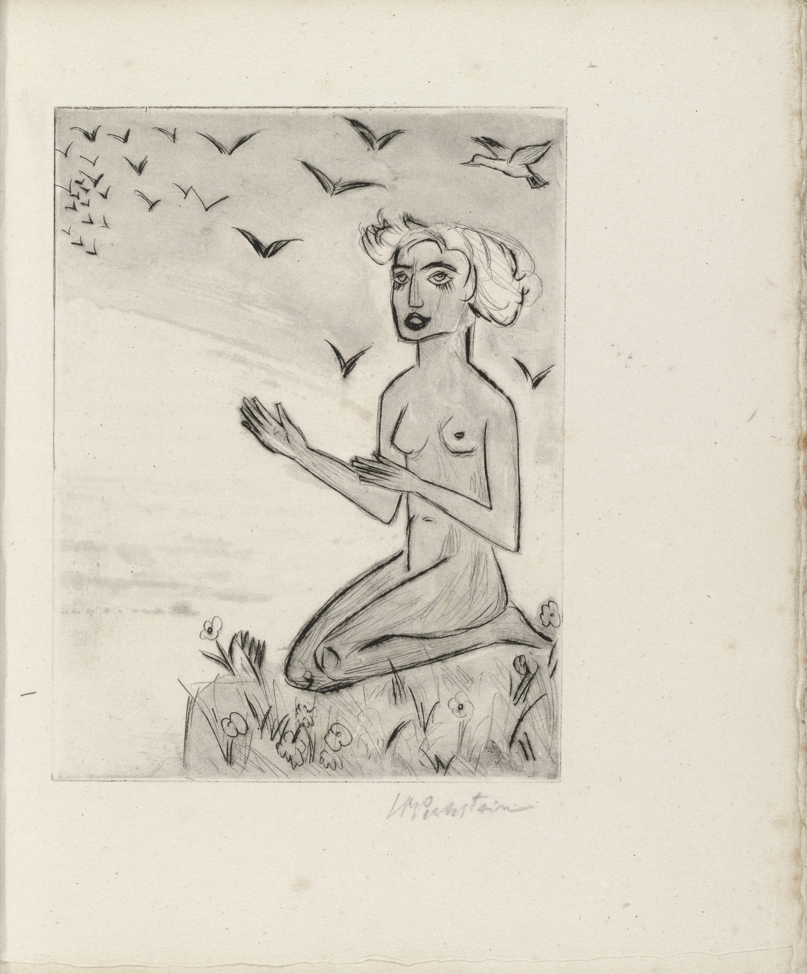 Max Pechstein. Plate (facing page 16) from Yali und sein weisses Weib (Yali and His White Wife). (1923)