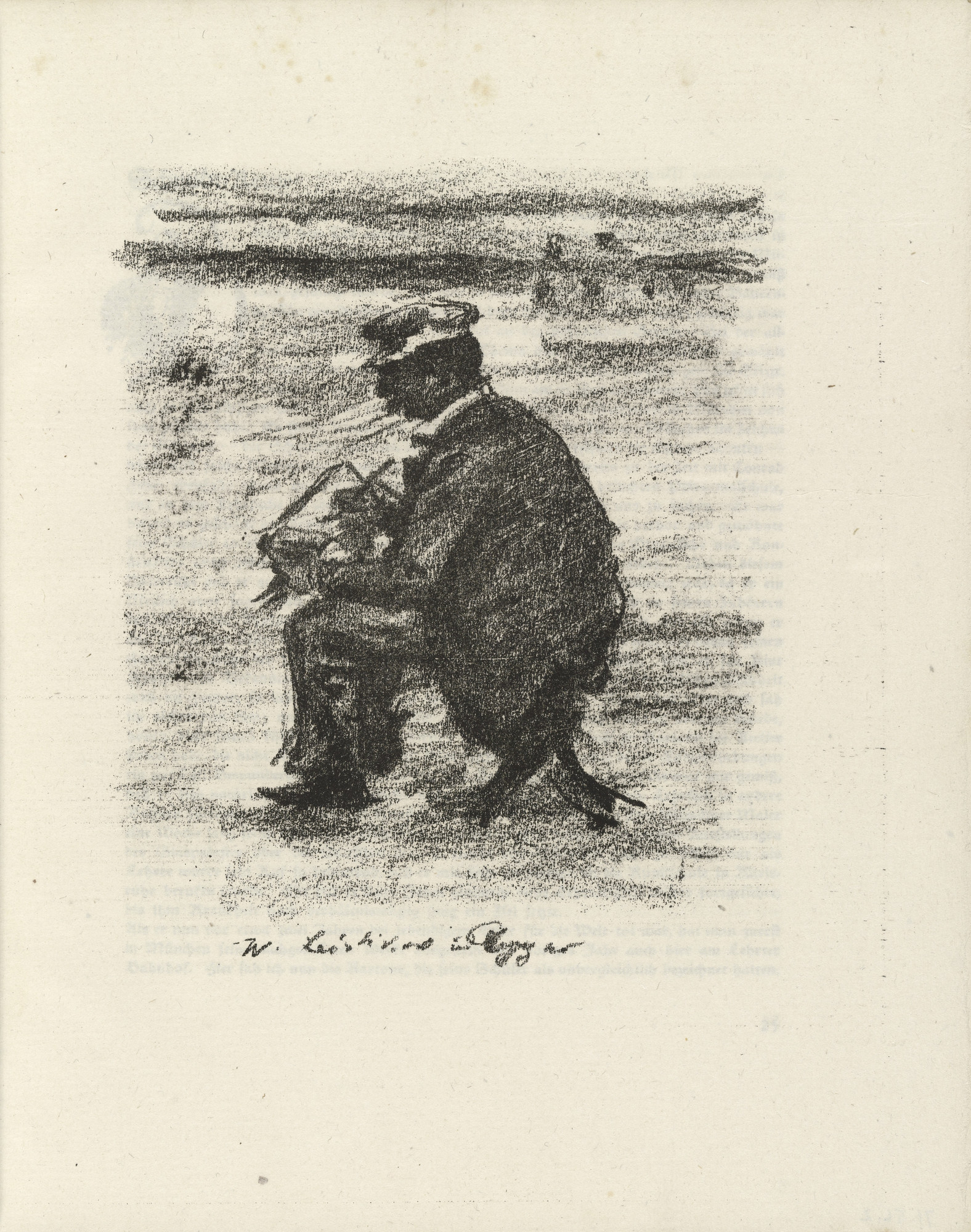 Lovis Corinth. Walter Leistikow (plate facing page 24) from Gesammelte Schriften (Collected Writings). 1920
