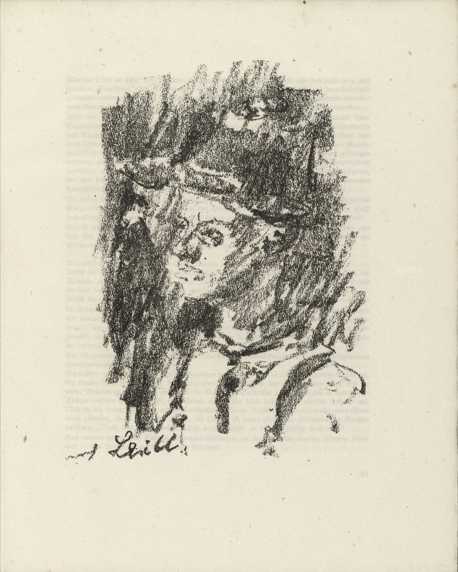 Lovis Corinth. Two Peasants after William Leibl (Zwei Bauern nach Wilhelm Leibl) (plate facing page 44) from Gesammelte Schriften (Collected Writings). 1920