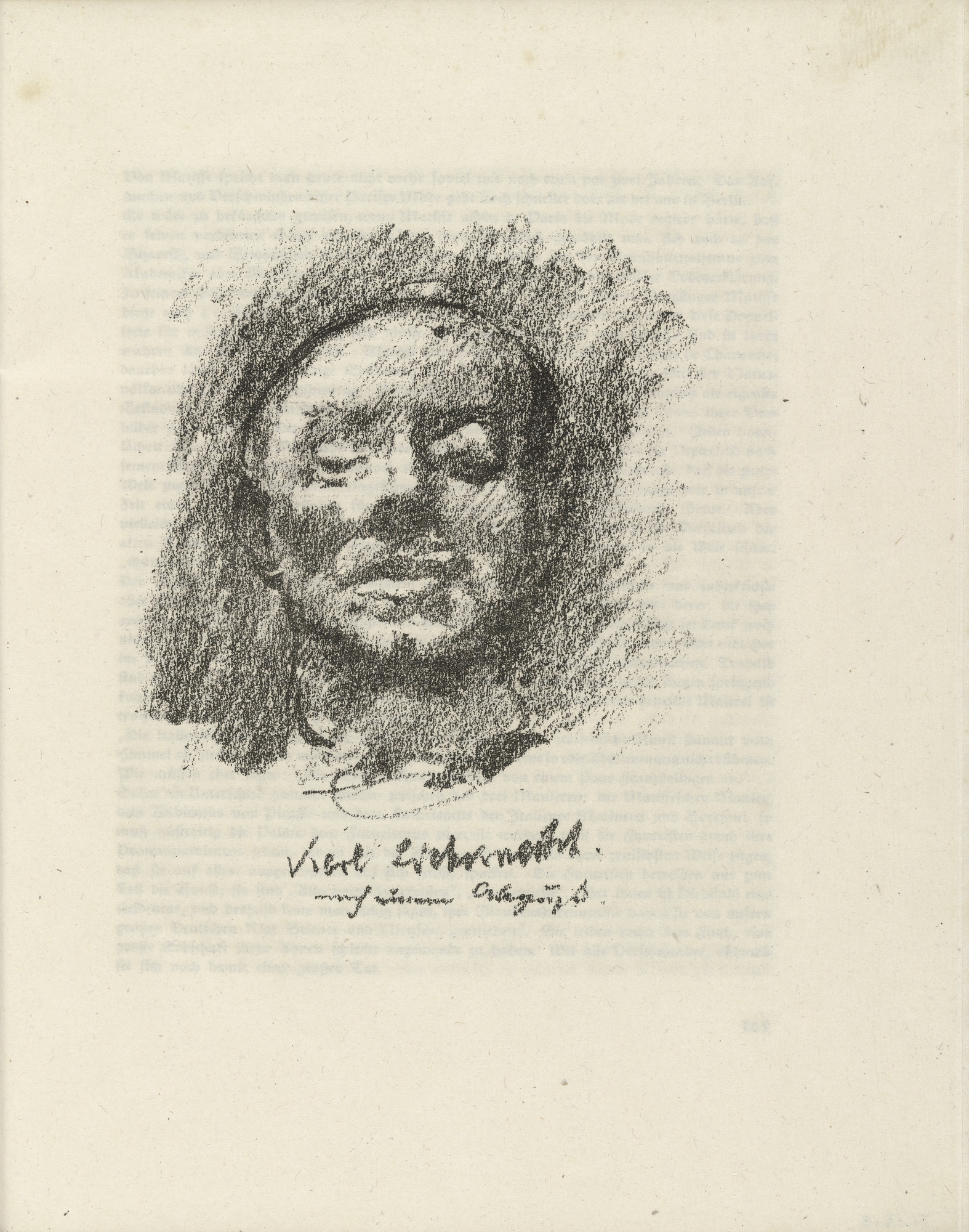 Lovis Corinth. Karl Liebknecht (plate facing page 104) from Gesammelte Schriften (Collected Writings). 1920